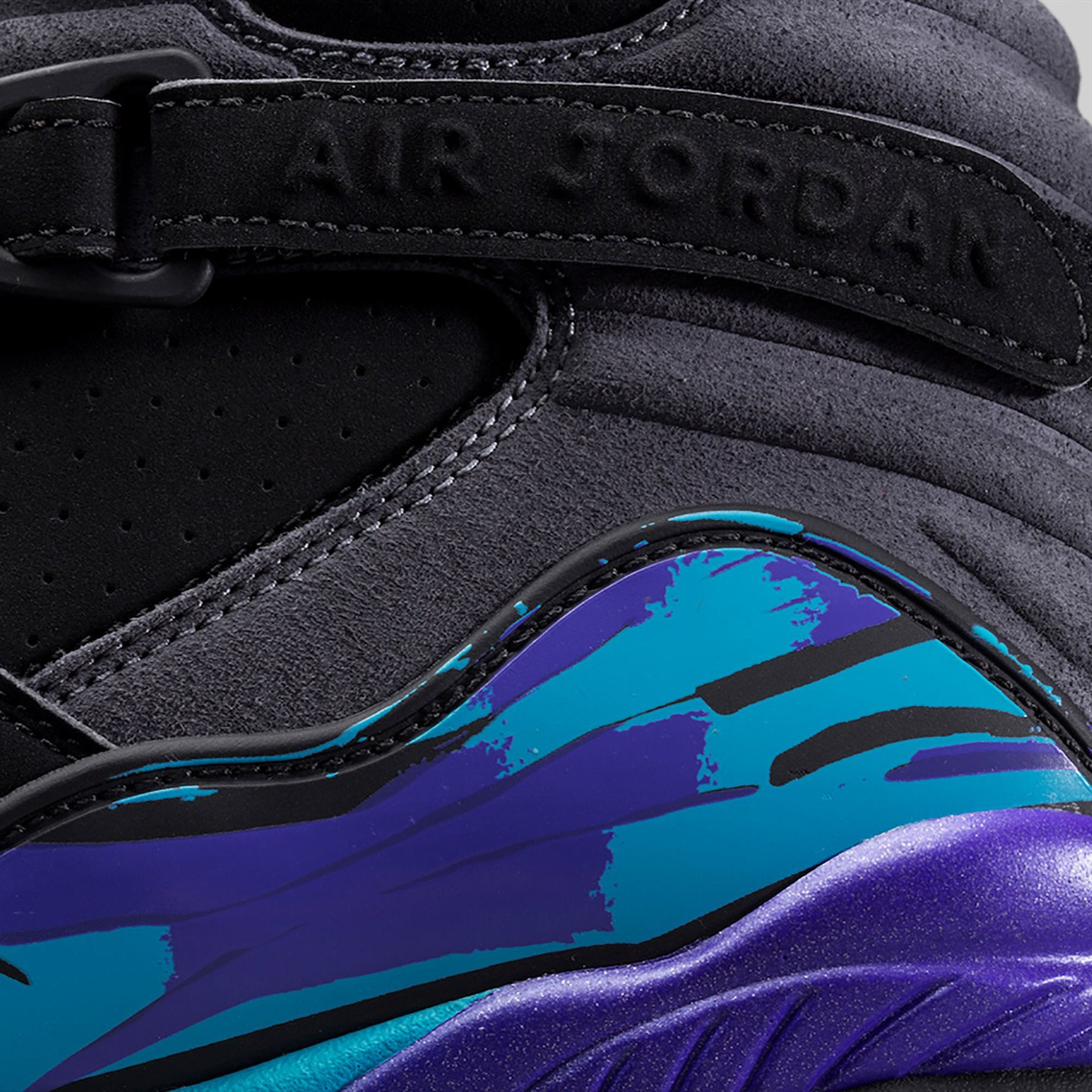 Jordan Air Jordan Retro 8 'Aqua' Black/True Red-Flint Grey-Bright Concord 305381-025-46