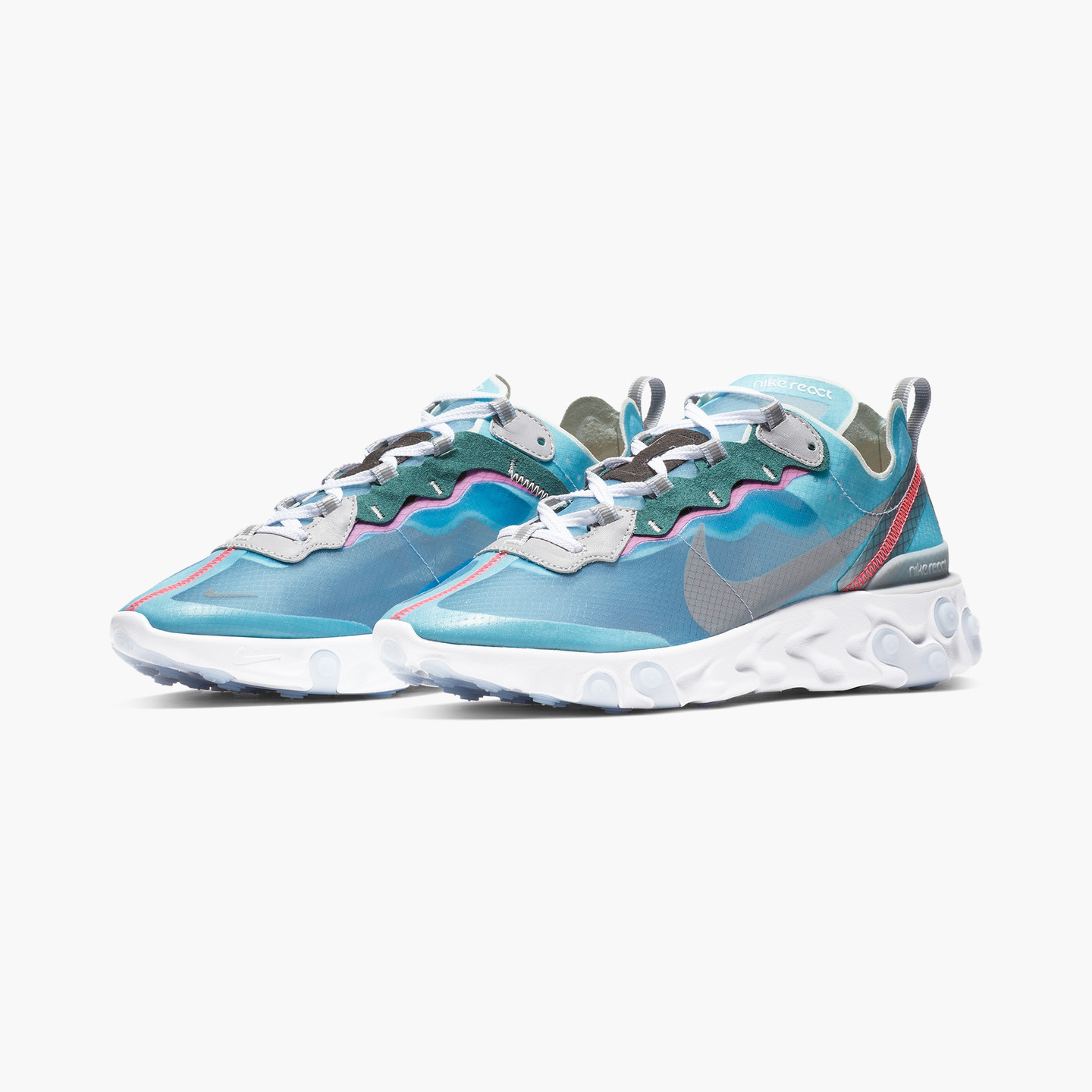 Nike React Element 87 Royal Tint / Black / Wolf Grey / Solar Red AQ1090-400