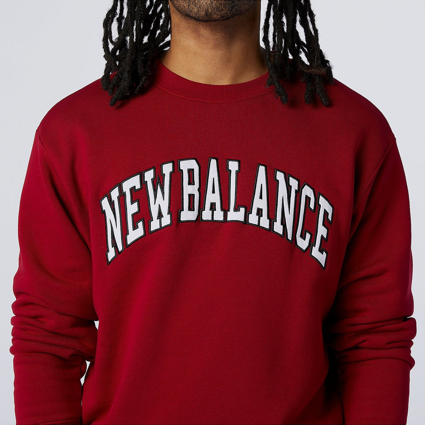 New Balance Athletics Varsity Crewneck Sweat Neo Crimson Red / White / Navy MT03515-NCR