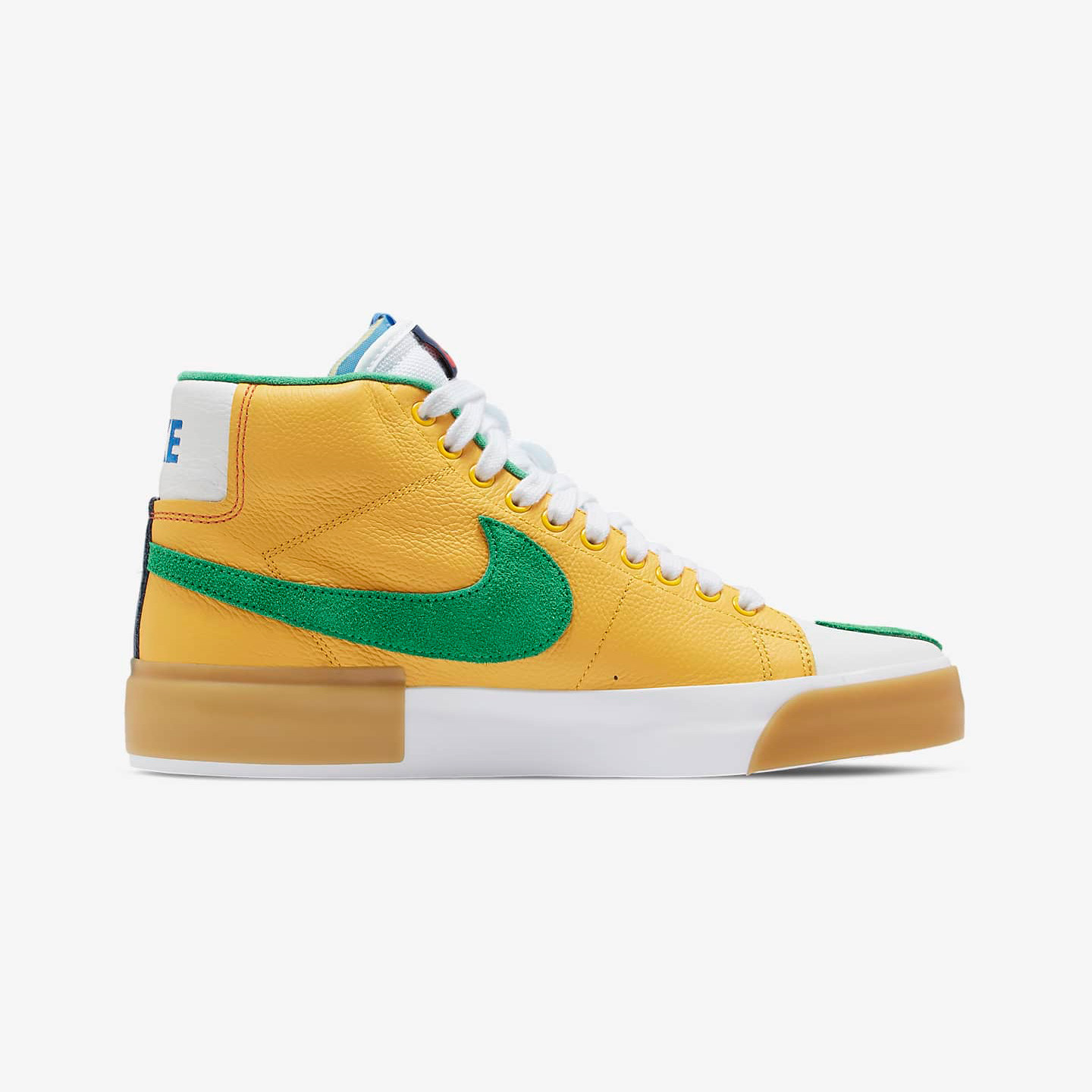 Nike SB Zoom Blazer Mid Edge 'Multi' Safety Orange / Lucky Green DA2189-800