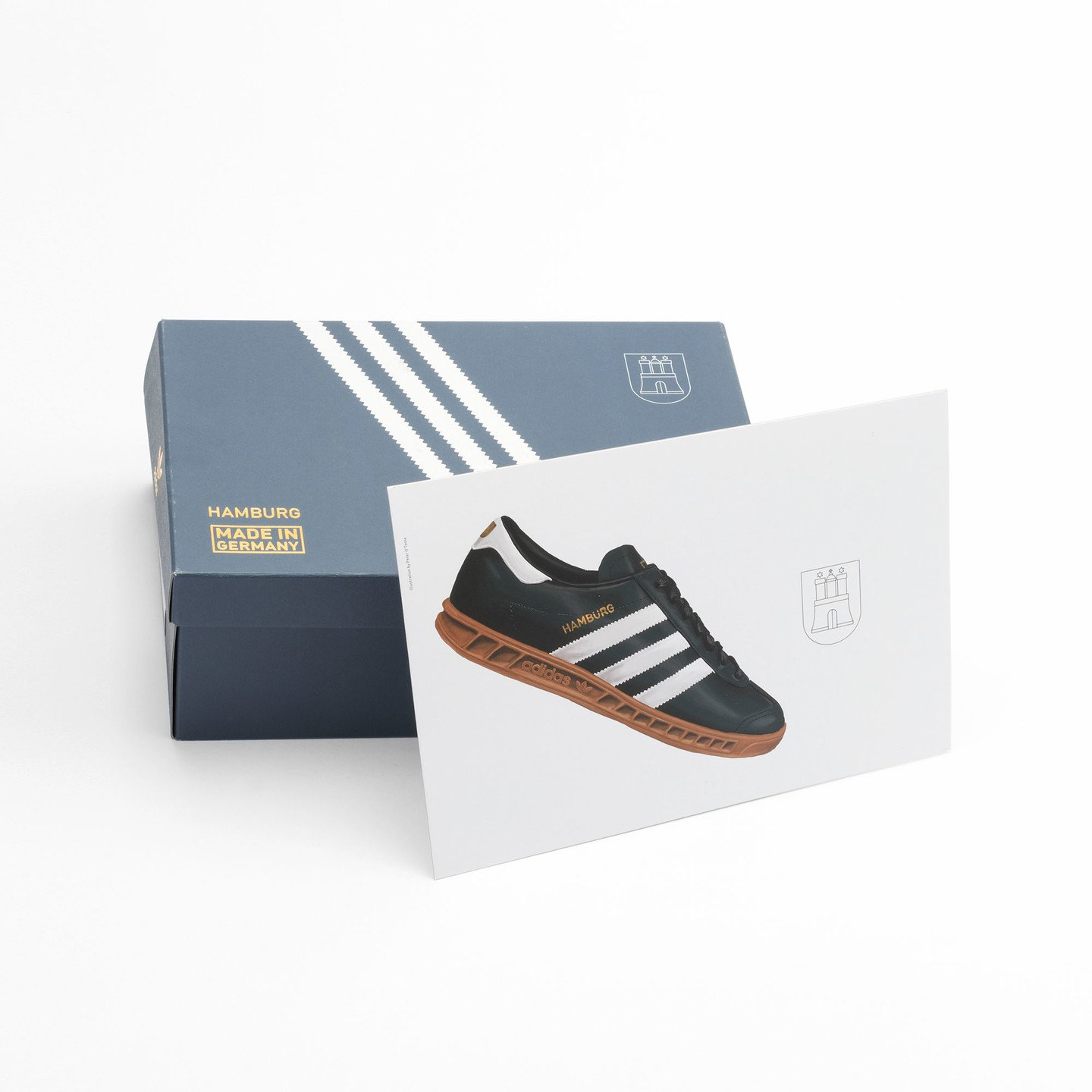 Adidas Hamburg - Made in Germany Navy / White / Gold / Gum S31602-45.33
