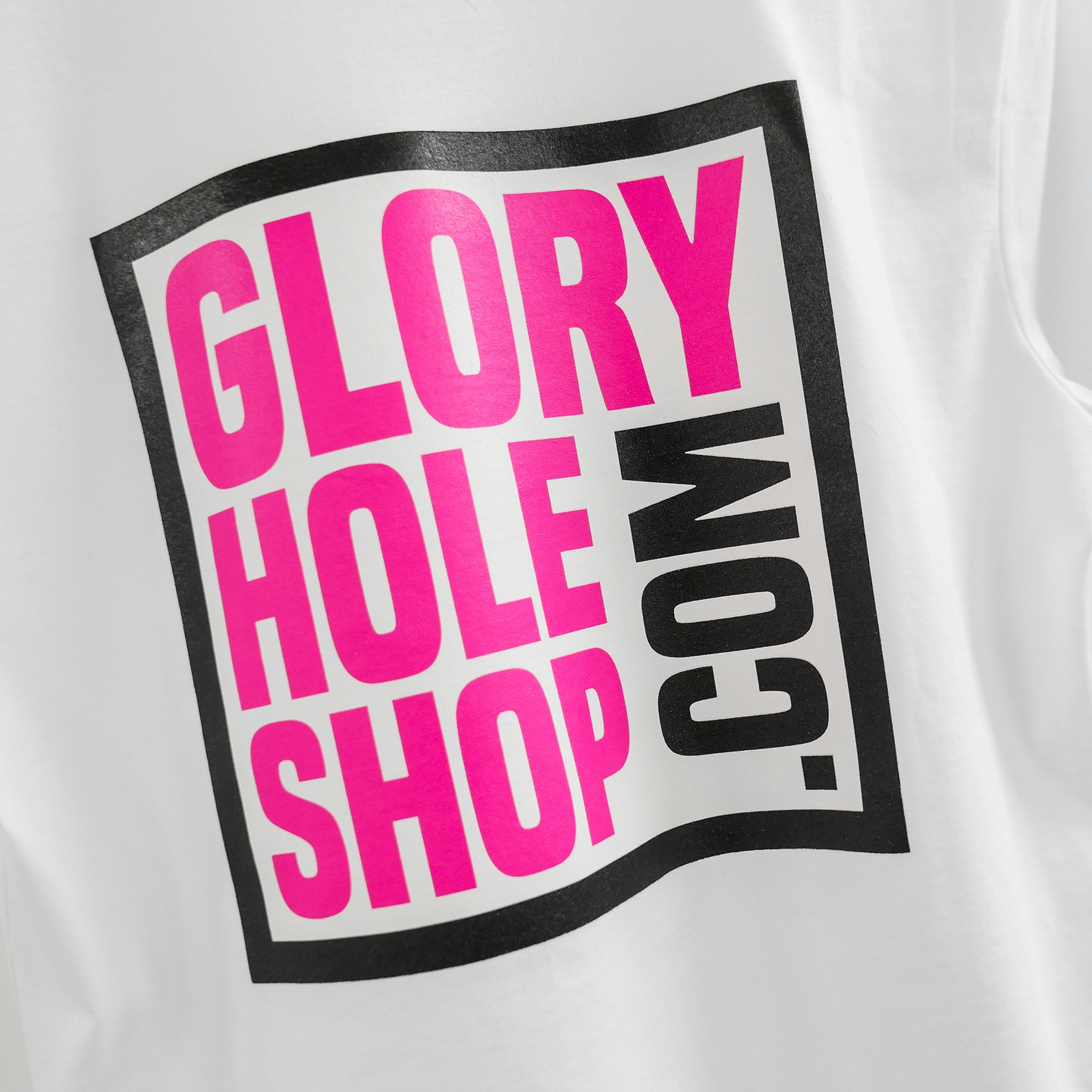 Glory Hole Logo Tee White / Scream Pink / Black GHSS-TS-WHT-001