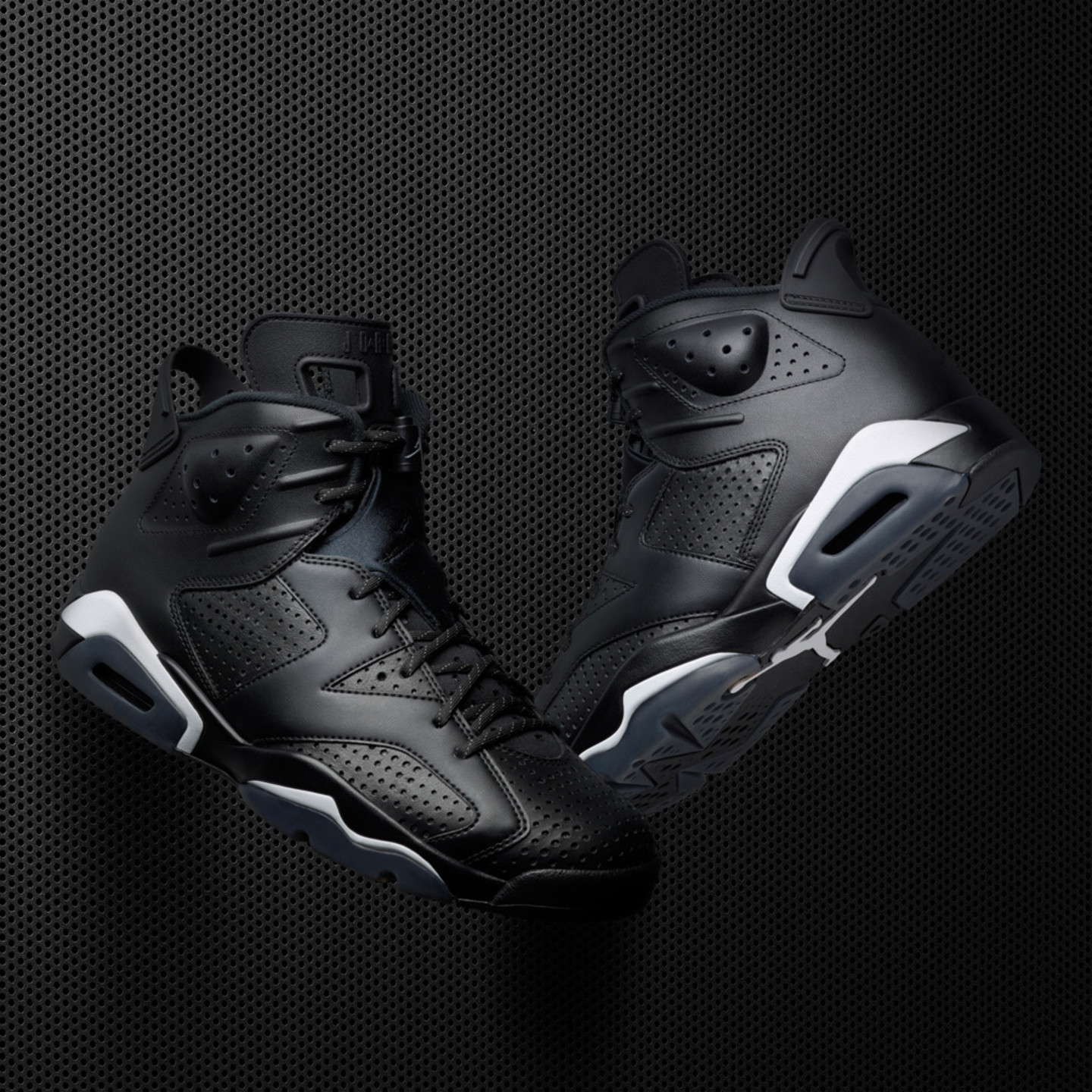 Jordan Air Jordan 6 Retro GS 'Black Cat' Black / White 384665-020-36