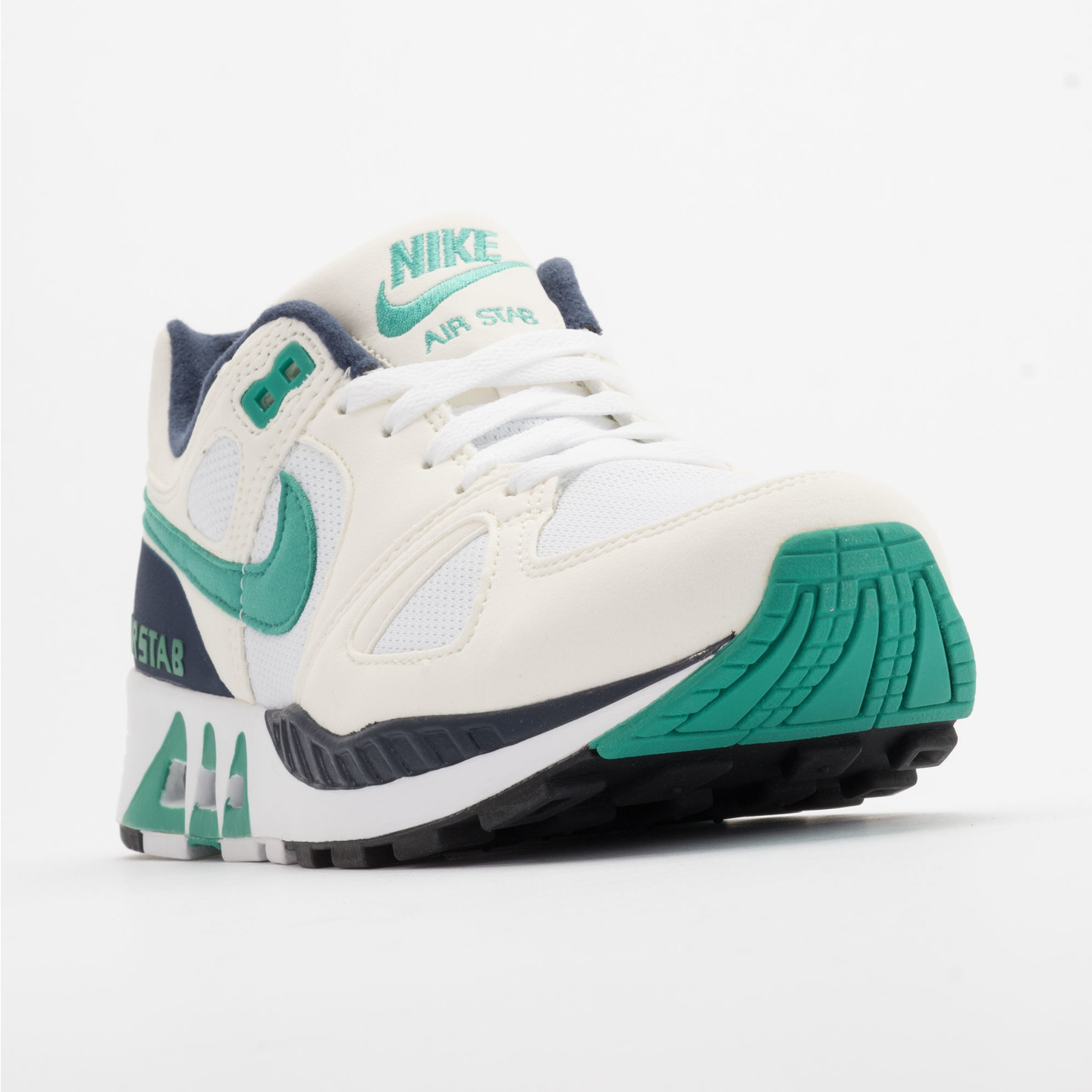 Nike Air Stab White/Emerald Green-Sl-Mid Nvy 312451-100-43