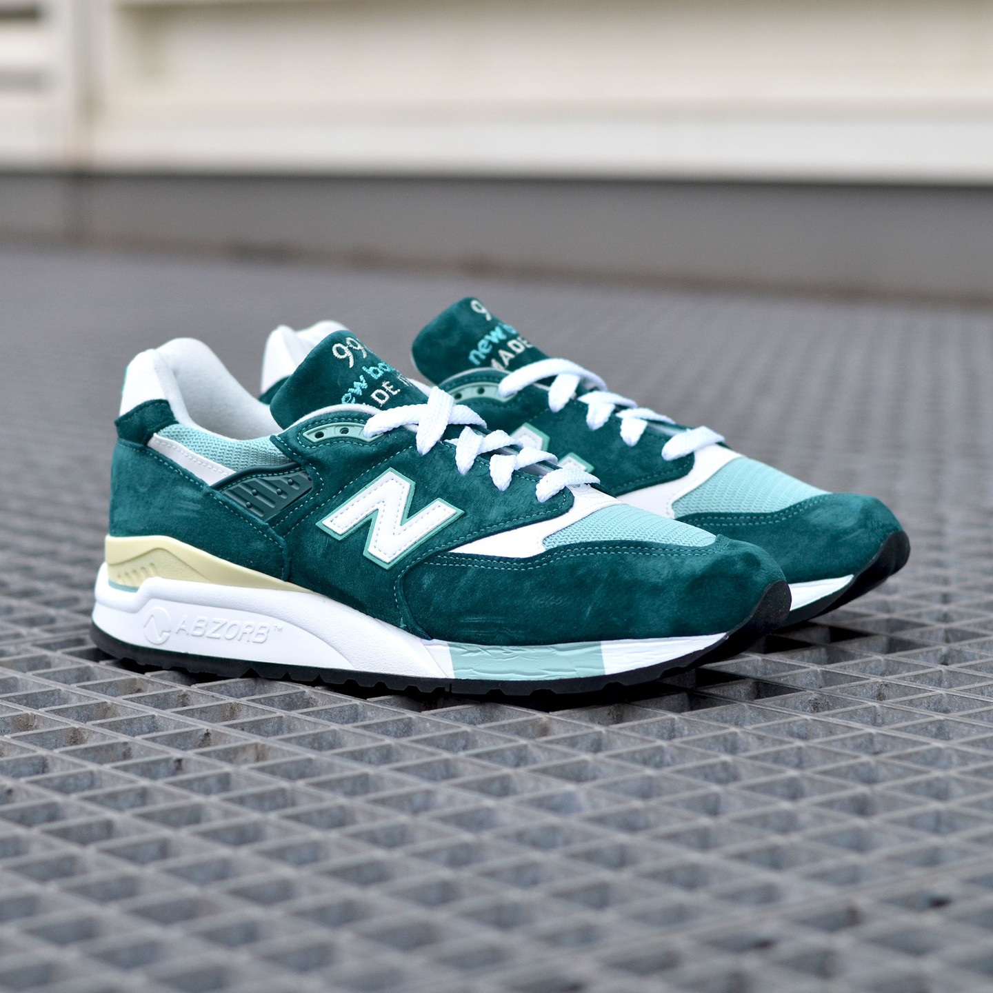 New Balance M998 Made in USA Sea Green / White M998CSAM-45.5