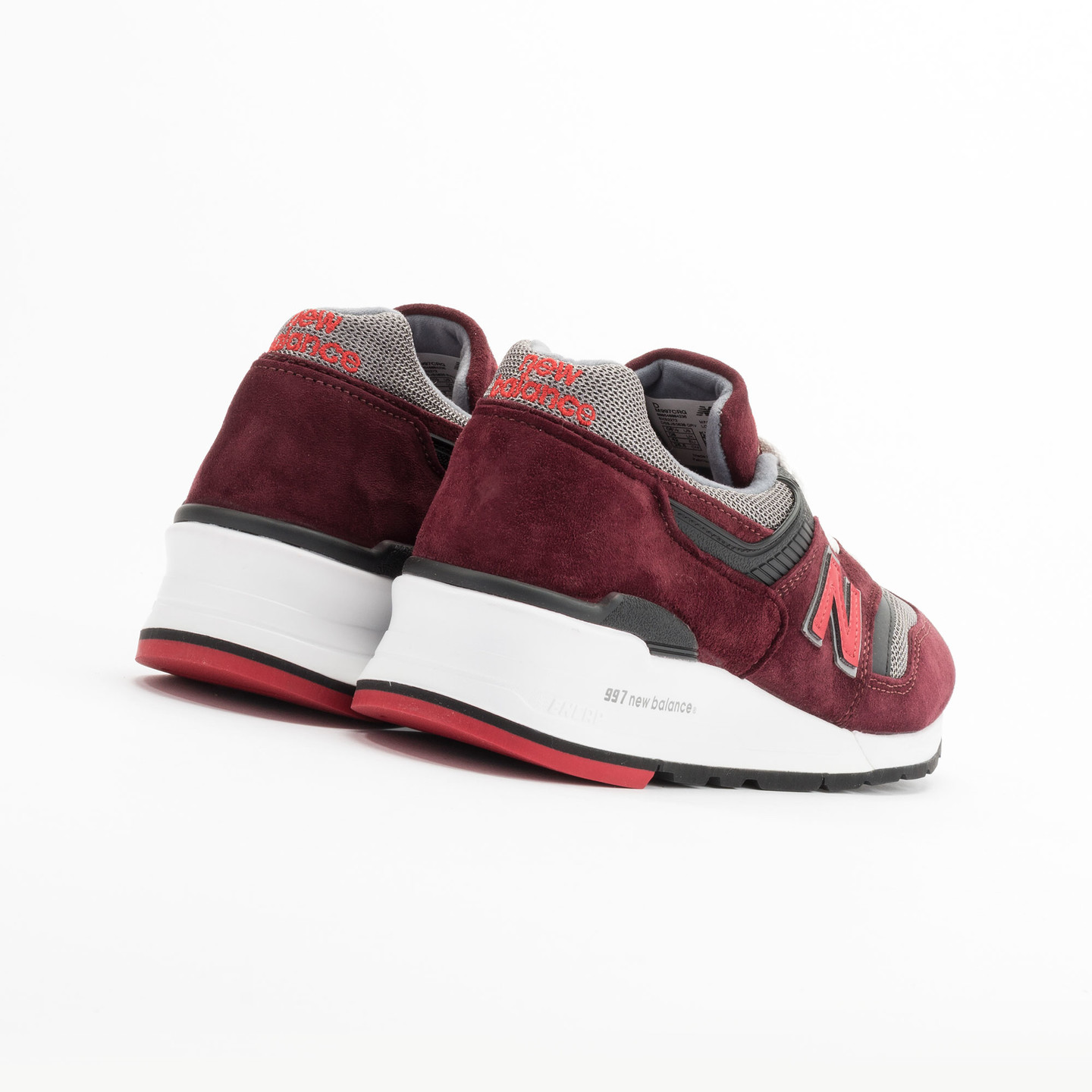 New Balance M997 CRG - Made in USA Brick Red / Black / Grey M997CRG-45.5
