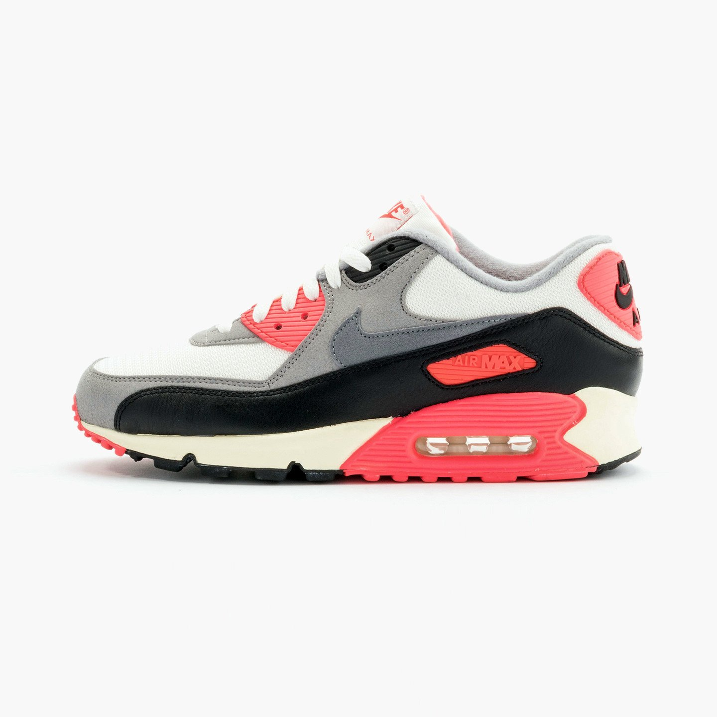 Nike Air Max 90 OG Vintage Infrared Sail/Cool Grey-Mdm Grey-Infrrd 543361-161-42