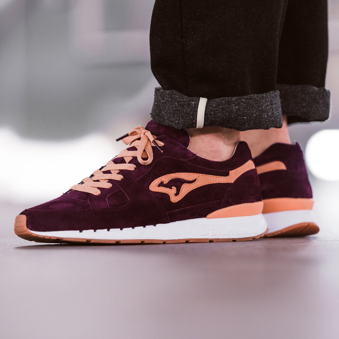 KangaROOS Coil R-1 'Shiraz' - Made in Germany Burgundy / Peach 47225-6111