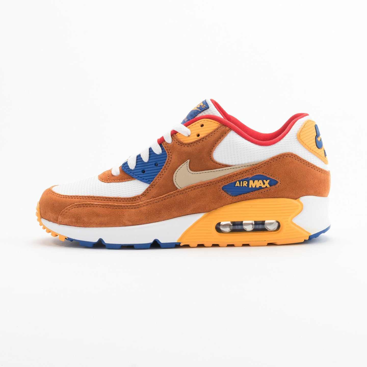 Nike Air Max 90 Premium White / Brown / Yellow / Gold 700155-107-45