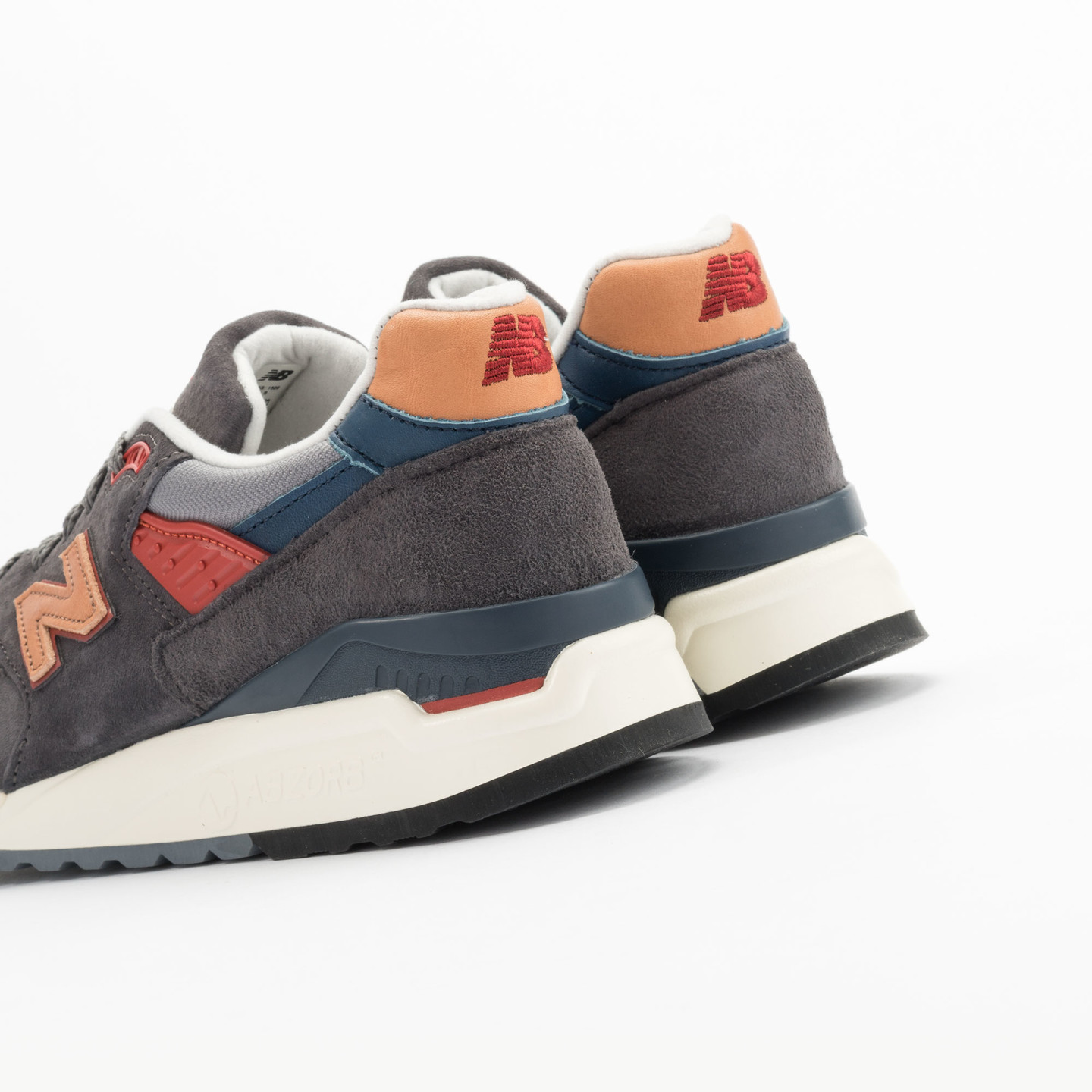 New Balance M998 Made in USA Dark Grey / Beige / Red / Navy M998DBR-43