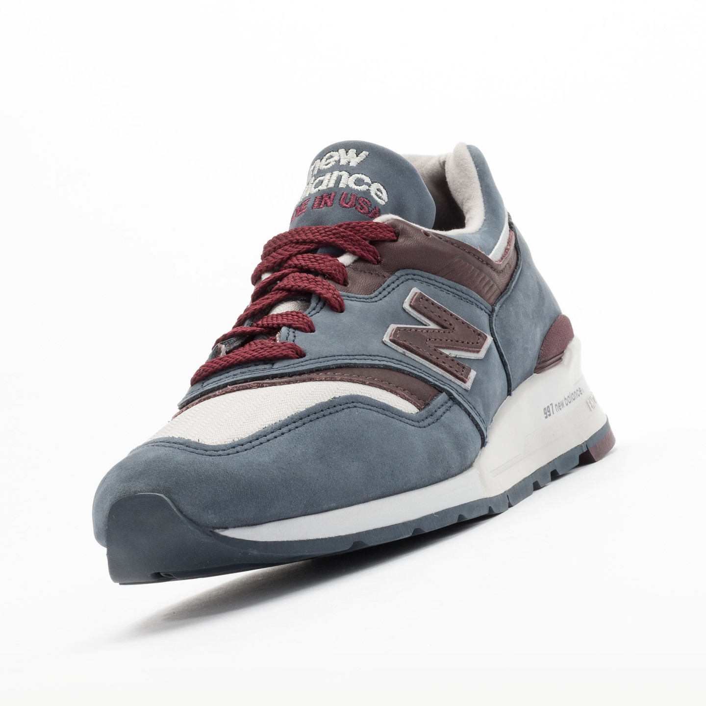 New Balance M997 DGM - Made in USA Grey Steel / Burgundy M997DGM-45