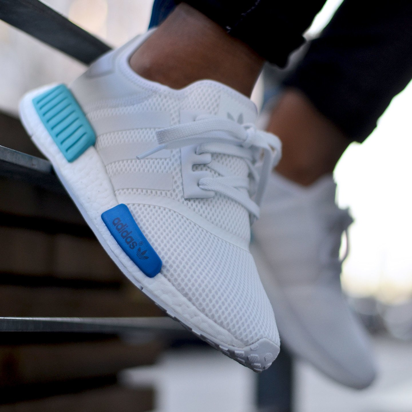 Adidas NMD R1 Runner W Ftwr White /  Blue Glow S75235-44