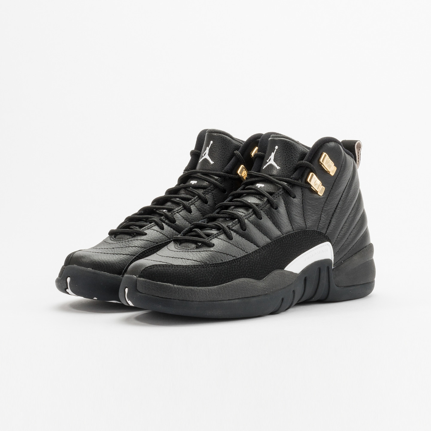 Jordan Air Jordan 12 Retro GS 'The Master' Black / White / Metallic Gold 153265-013-38