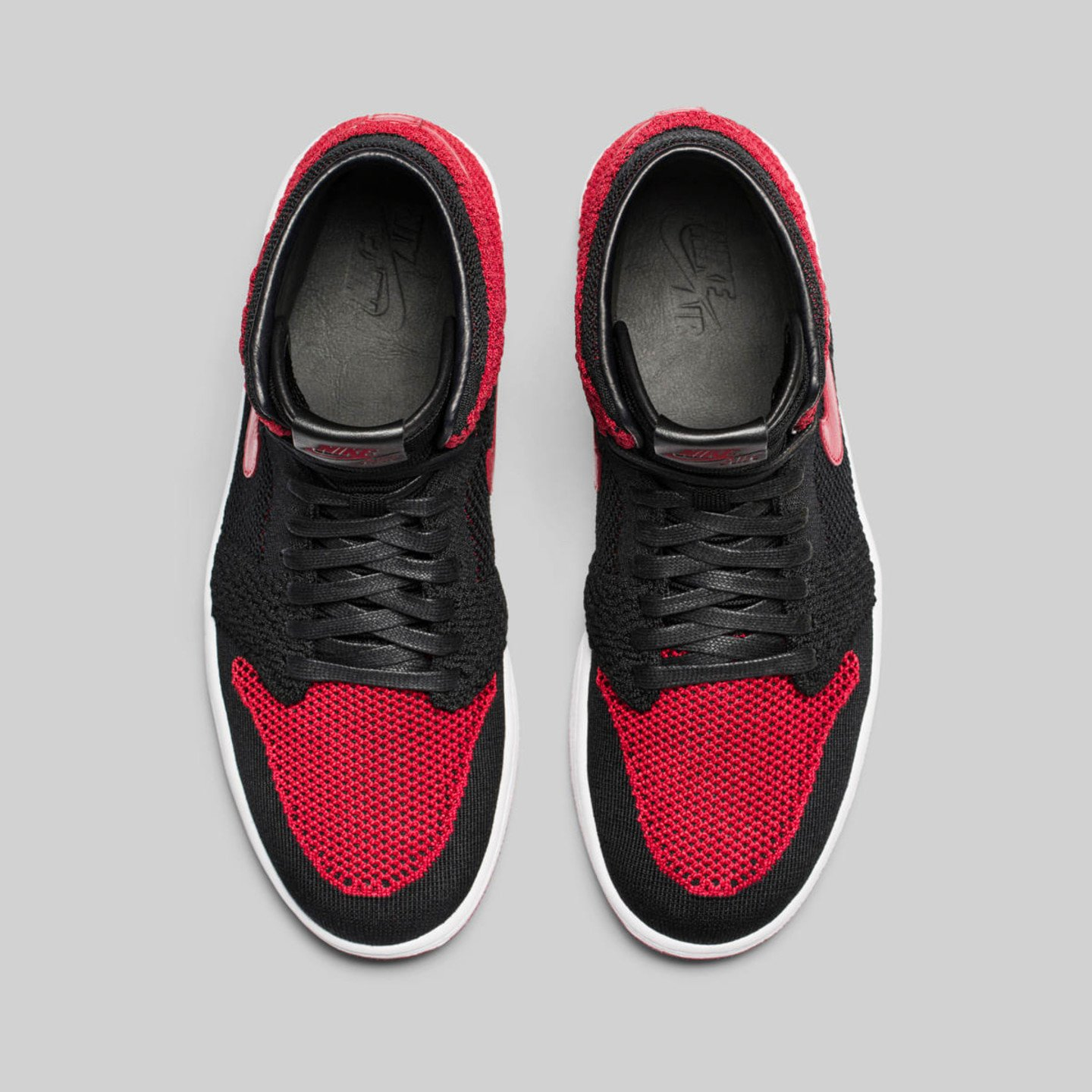 Jordan Air Jordan 1 Flyknit Banned Black / Varsity Red / White 919704-001