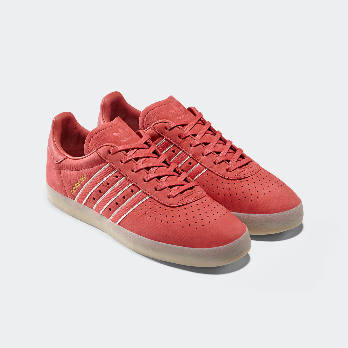 Adidas 350 x Oyster Holdings Trace Scarlet / Chalk White / Gold Metallic DB1975