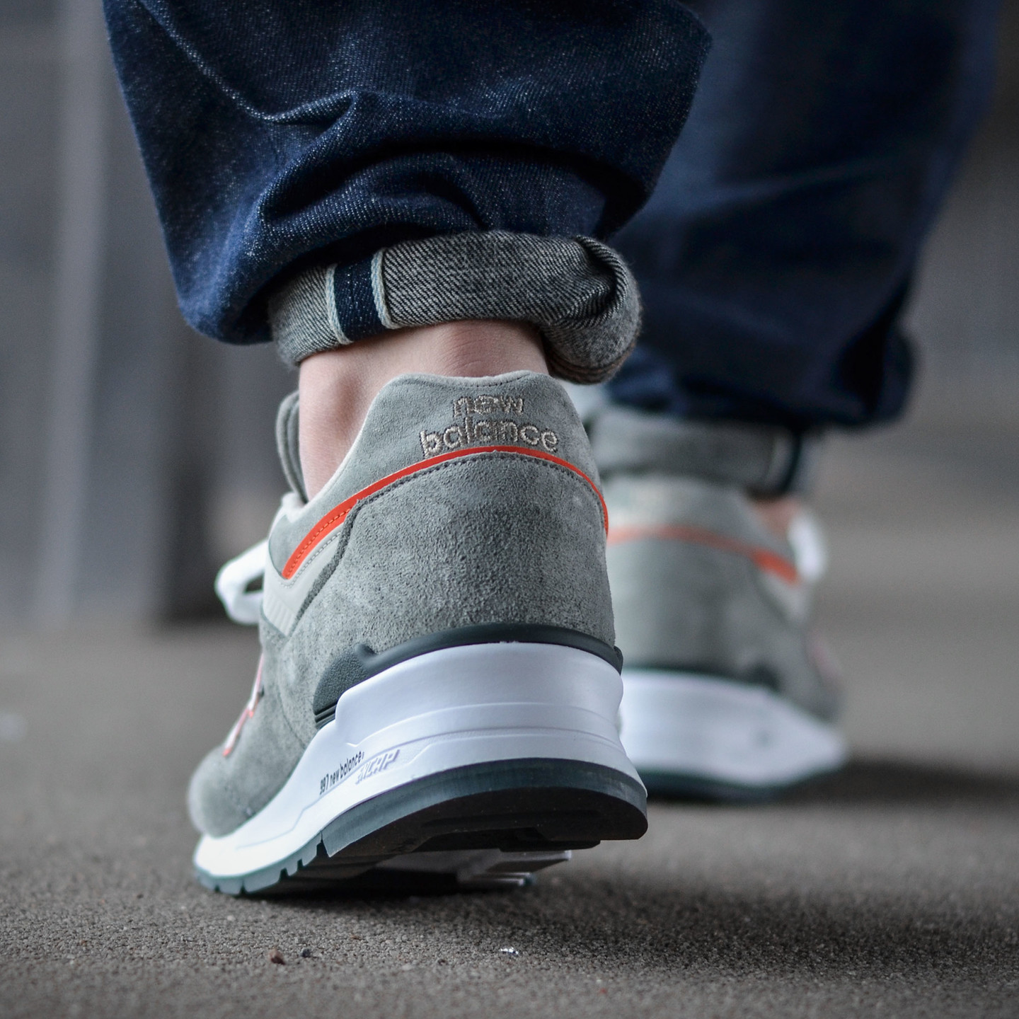 New Balance M997 Made in USA Grey / Orange M997CHT-42