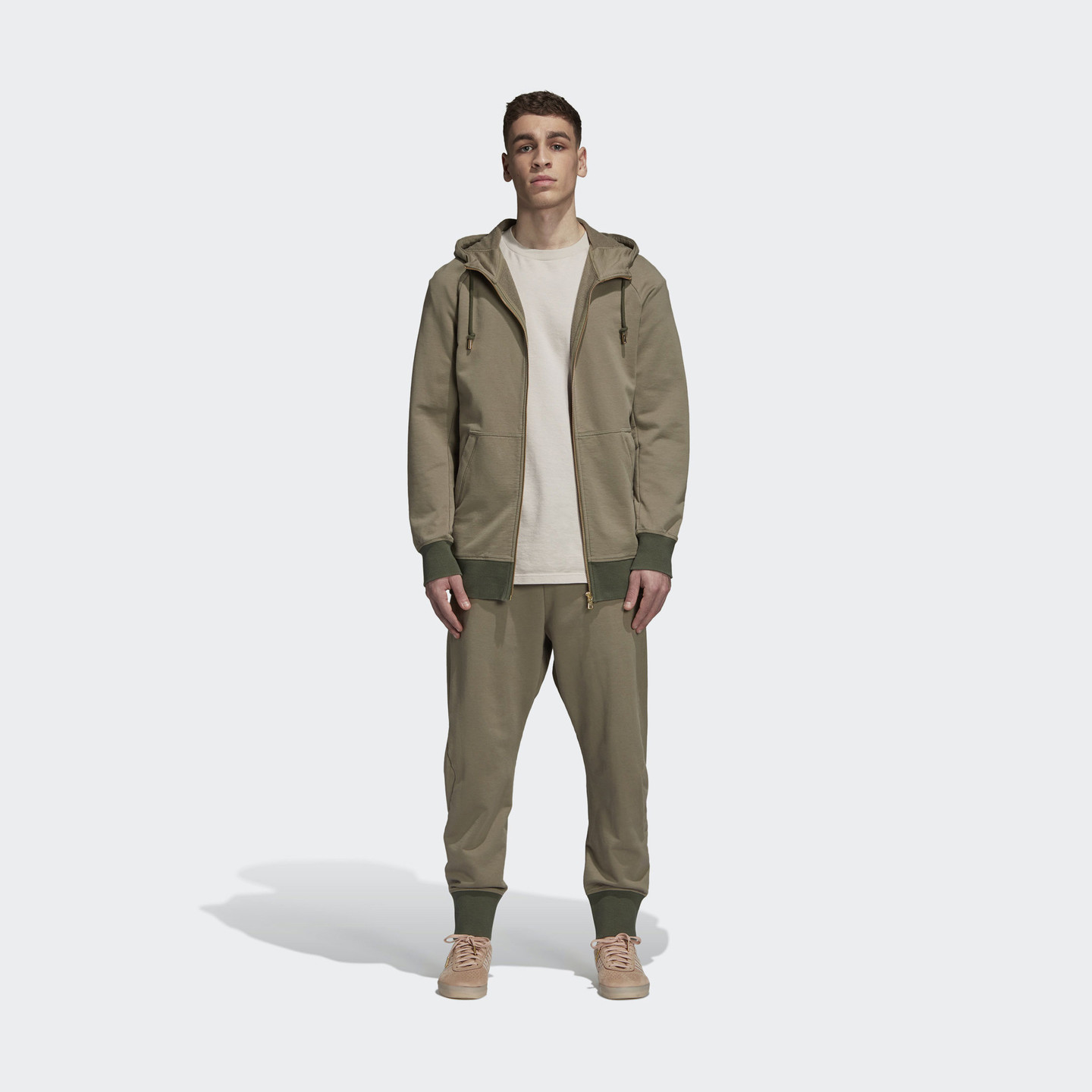 Adidas XbyO x Oyster Holdings Sweatpants Trace Cargo / Base Green / Metallic Gold CW0759