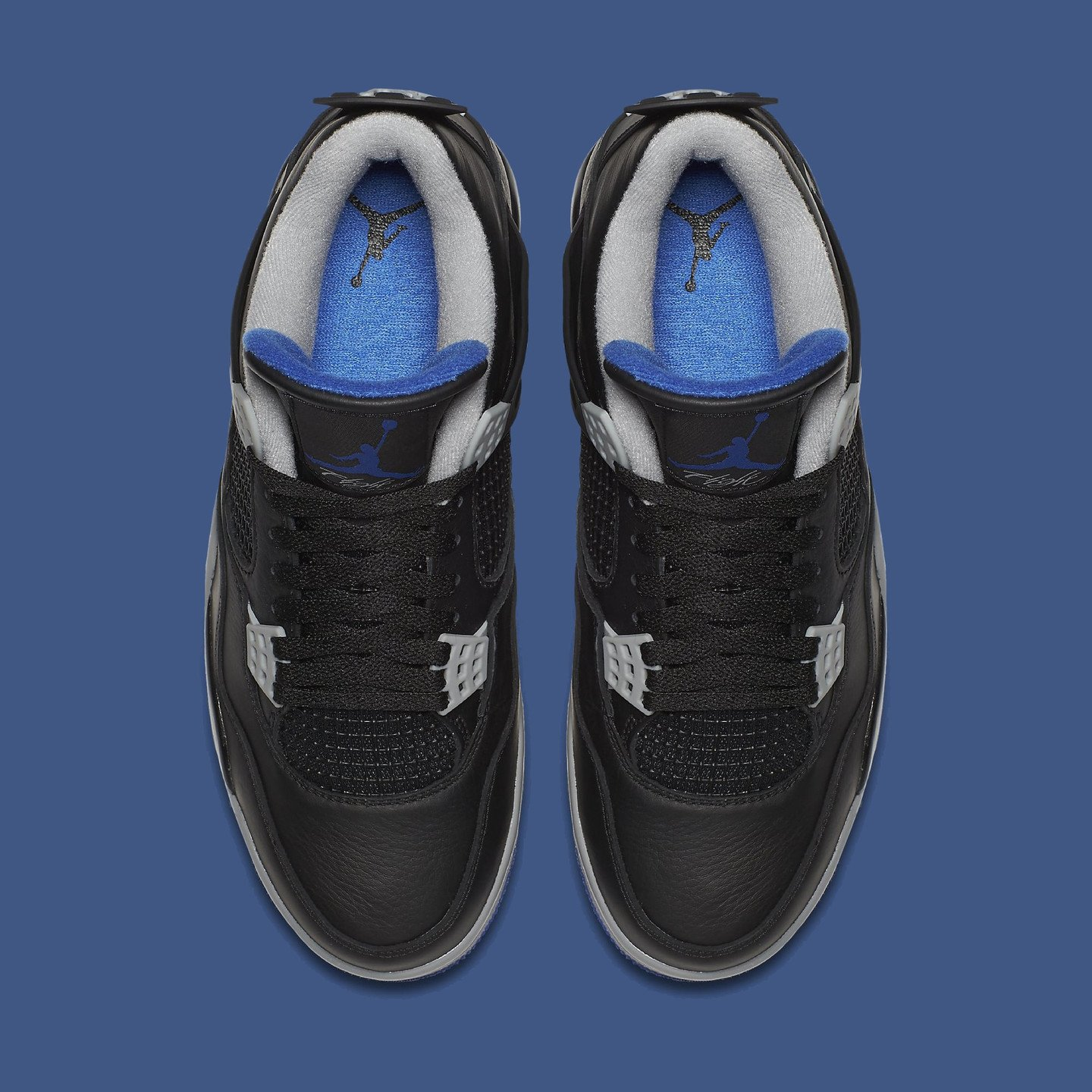 Jordan Air Jordan 4 Retro Black / Game Royal / Matte Silver  308497-006-44