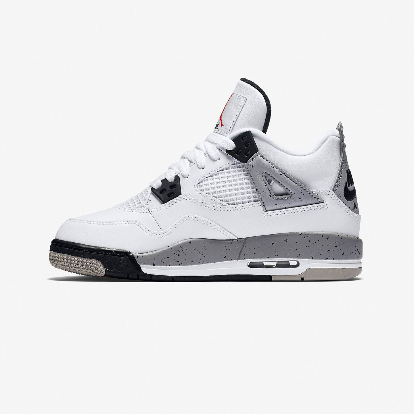 Nike Air Jordan 4 Retro GS Cement White / Fire Red / Tech Grey / Black 836016-192-37.5