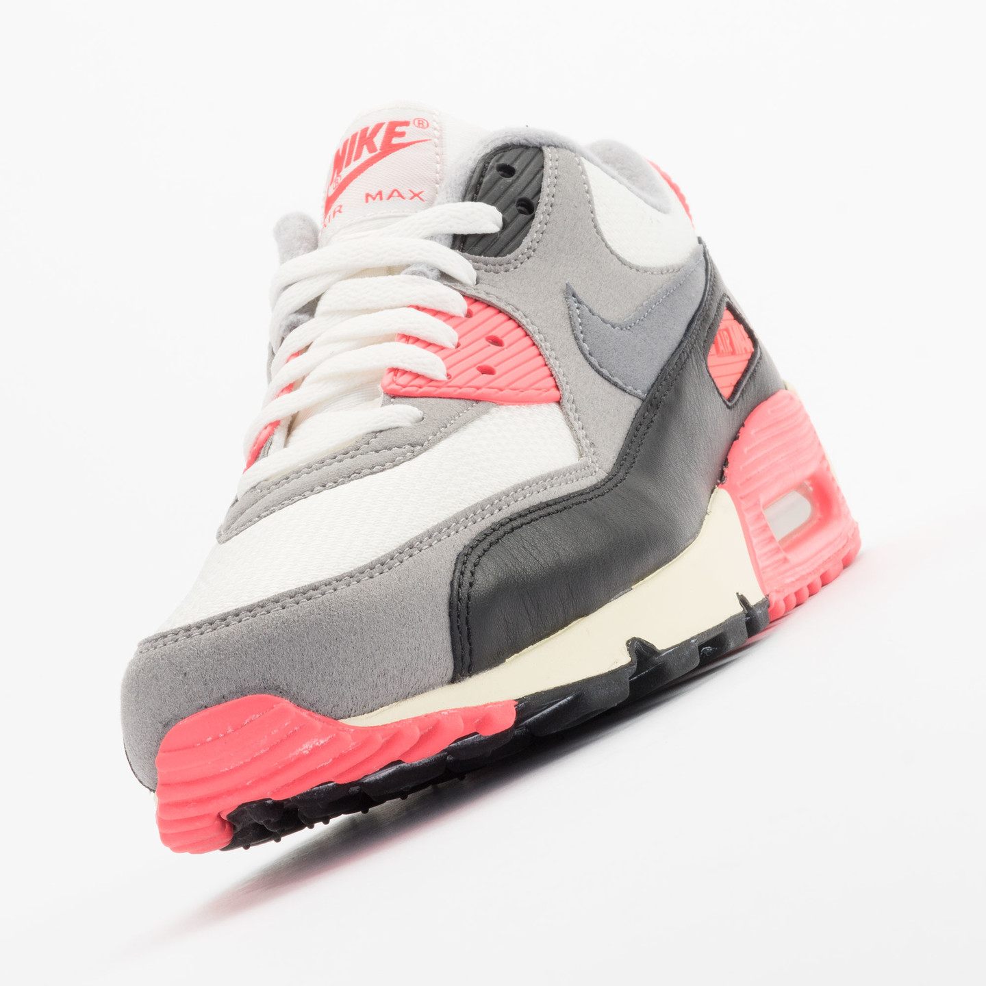 Nike Air Max 90 OG Vintage Infrared Sail/Cool Grey-Mdm Grey-Infrrd 543361-161-45.5