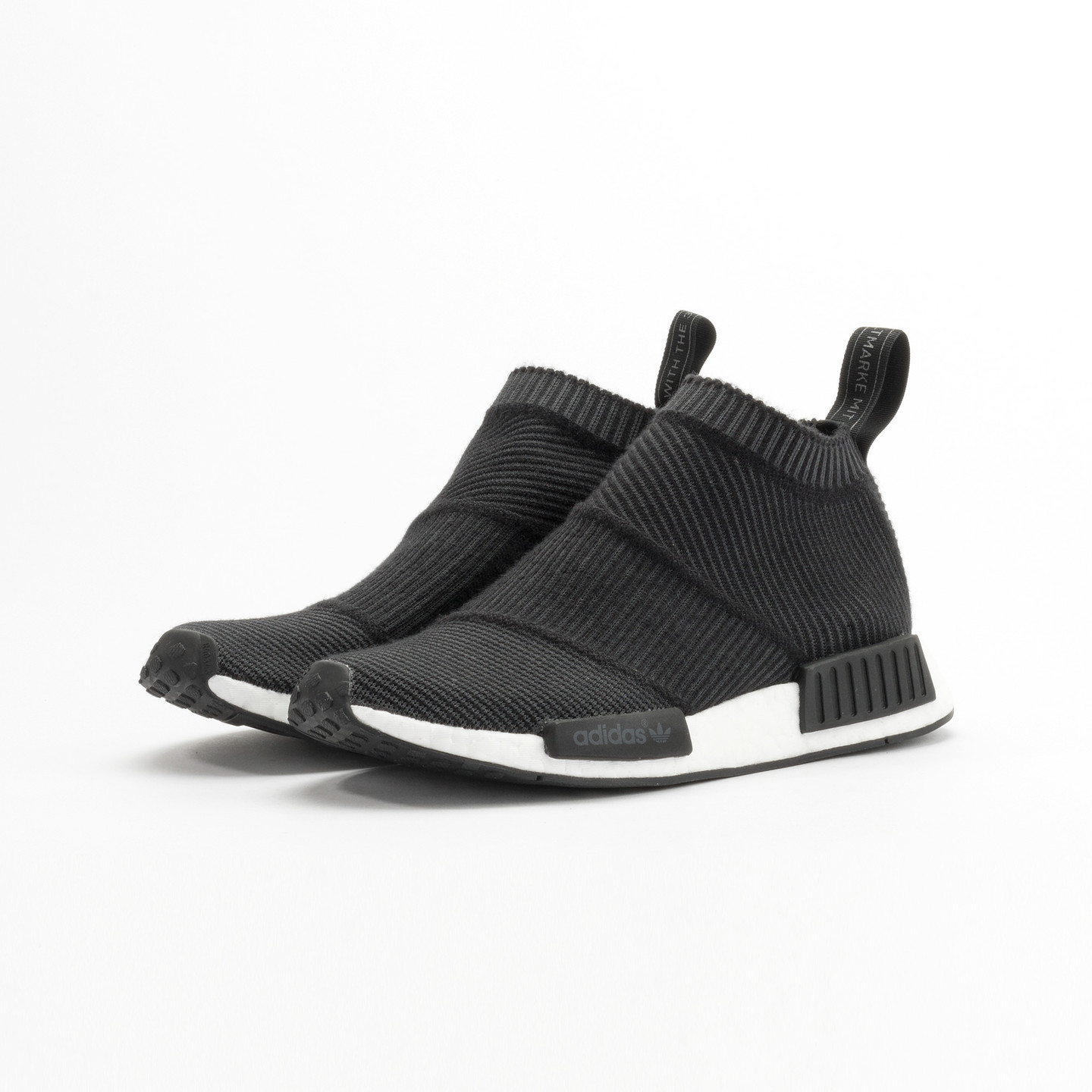 Adidas NMD CS1 City Sock Boost Primeknit Wool Core Black / Running White S32184-42