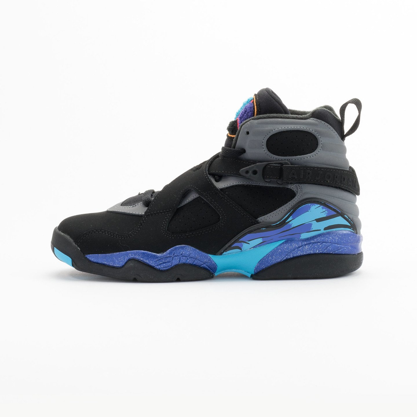 Jordan Air Jordan Retro 8 'Aqua' BG Black/True Red-Flint Grey-Bright Concord 305368-025-36.5