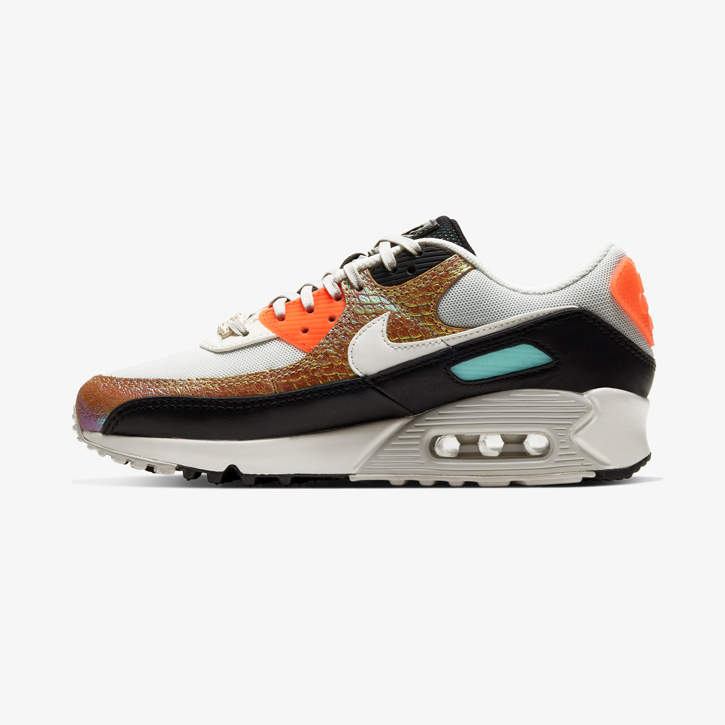 Nike Wmns Air Max 90 'Reptile' Light Bone / Hyper Crimson / Black / Sail CW2656-001