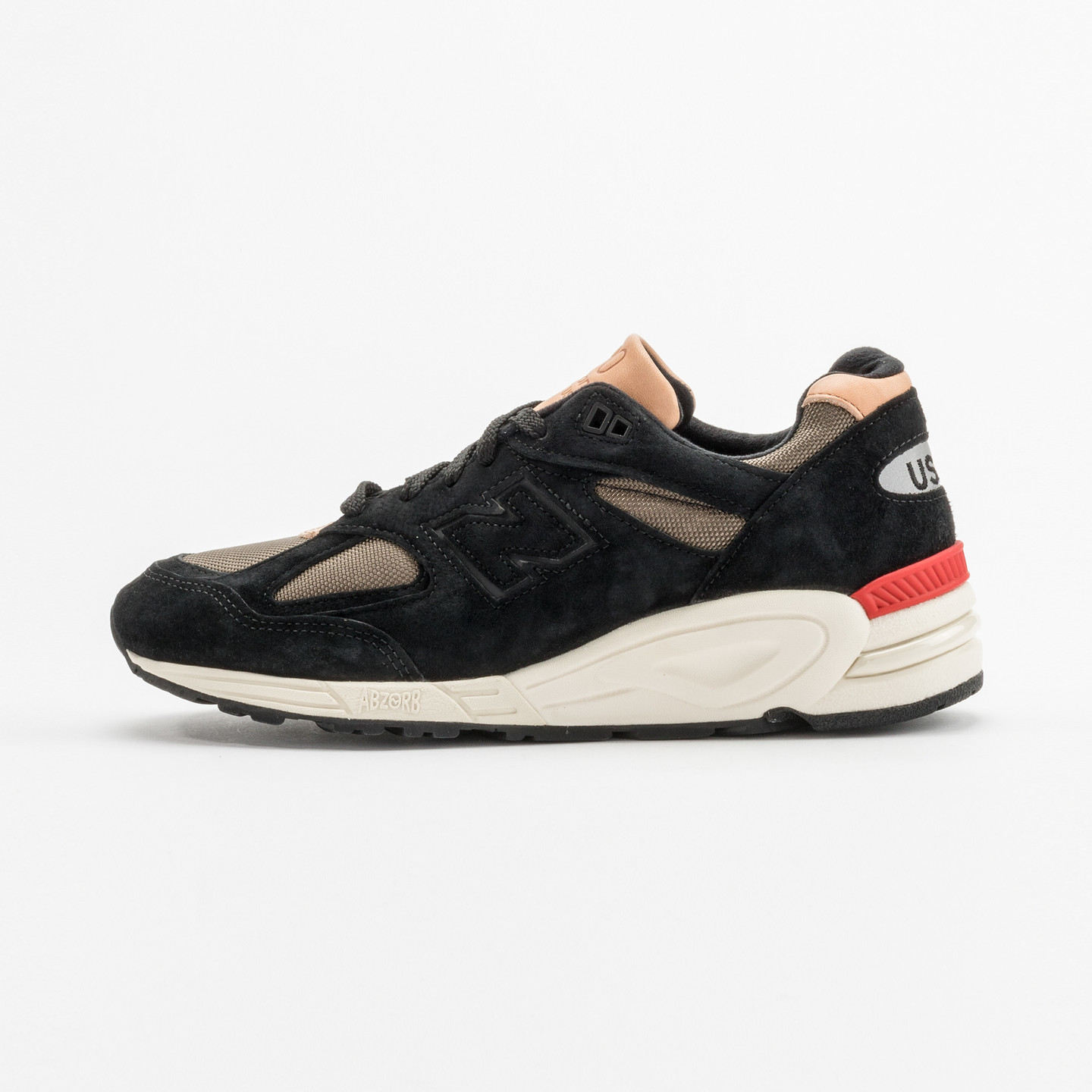 New Balance M990 - Made in USA Black / Off-White / Red M990CDB2