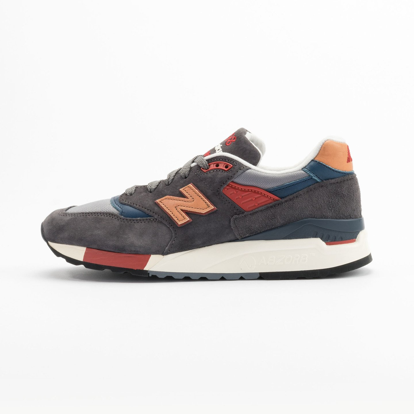 New Balance M998 Made in USA Dark Grey / Beige / Red / Navy M998DBR-44