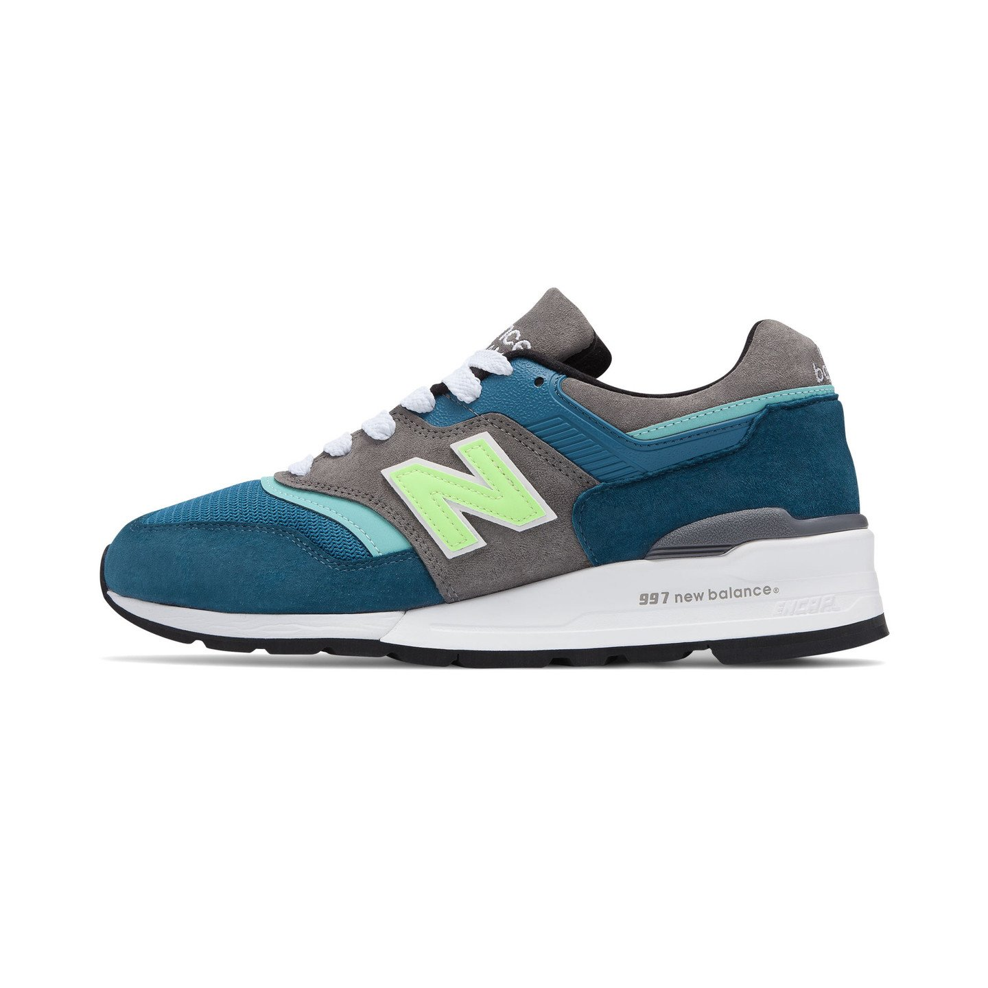 New Balance M997 - Made in USA Petrol / Safety Yellow M997PAC