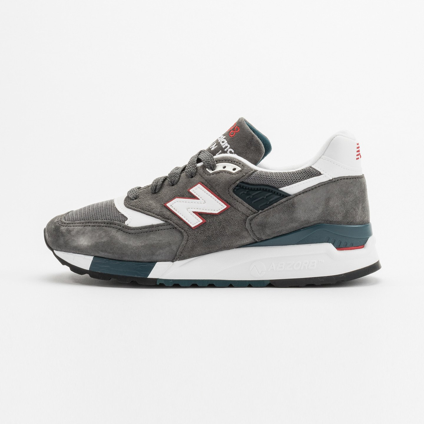 New Balance M998 CRA - Made in USA Granite Grey / White / Red M998CRA-44