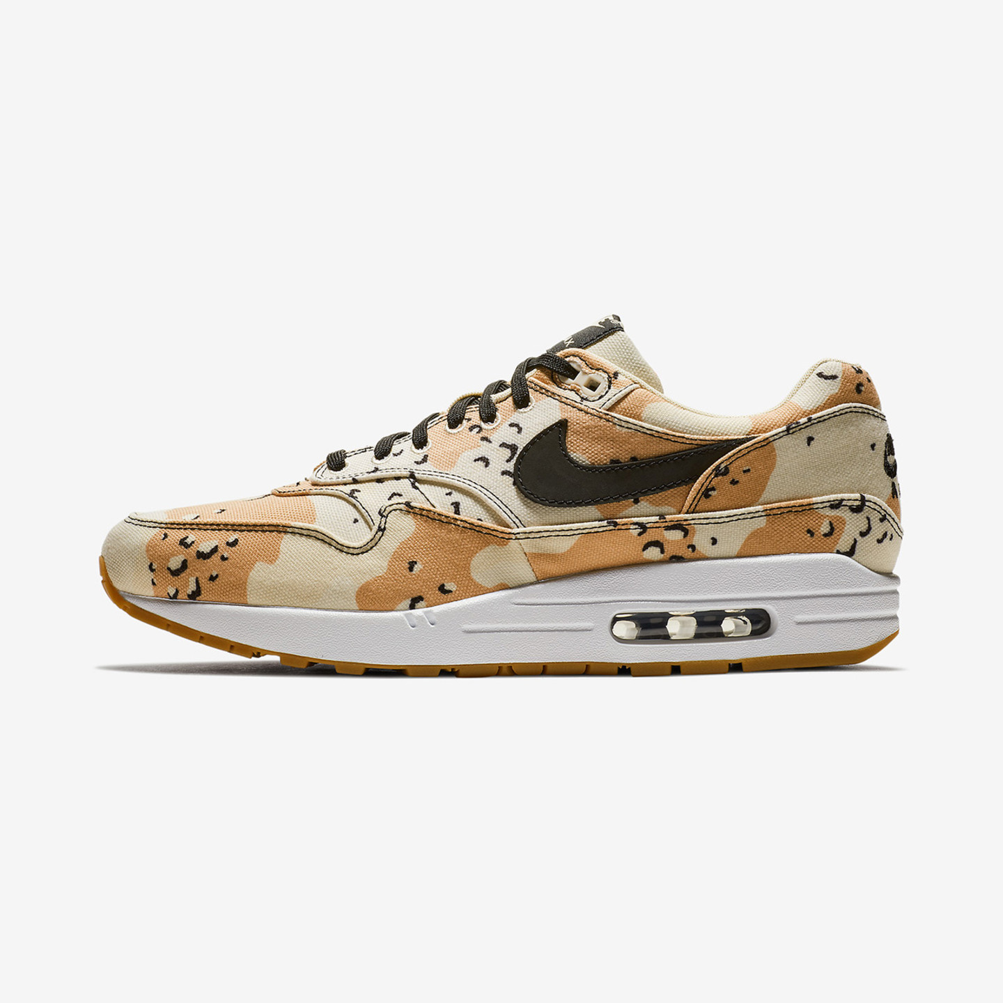 Nike Air Max 1 'Desert Camo' Beach / Black / Praline 875844-204