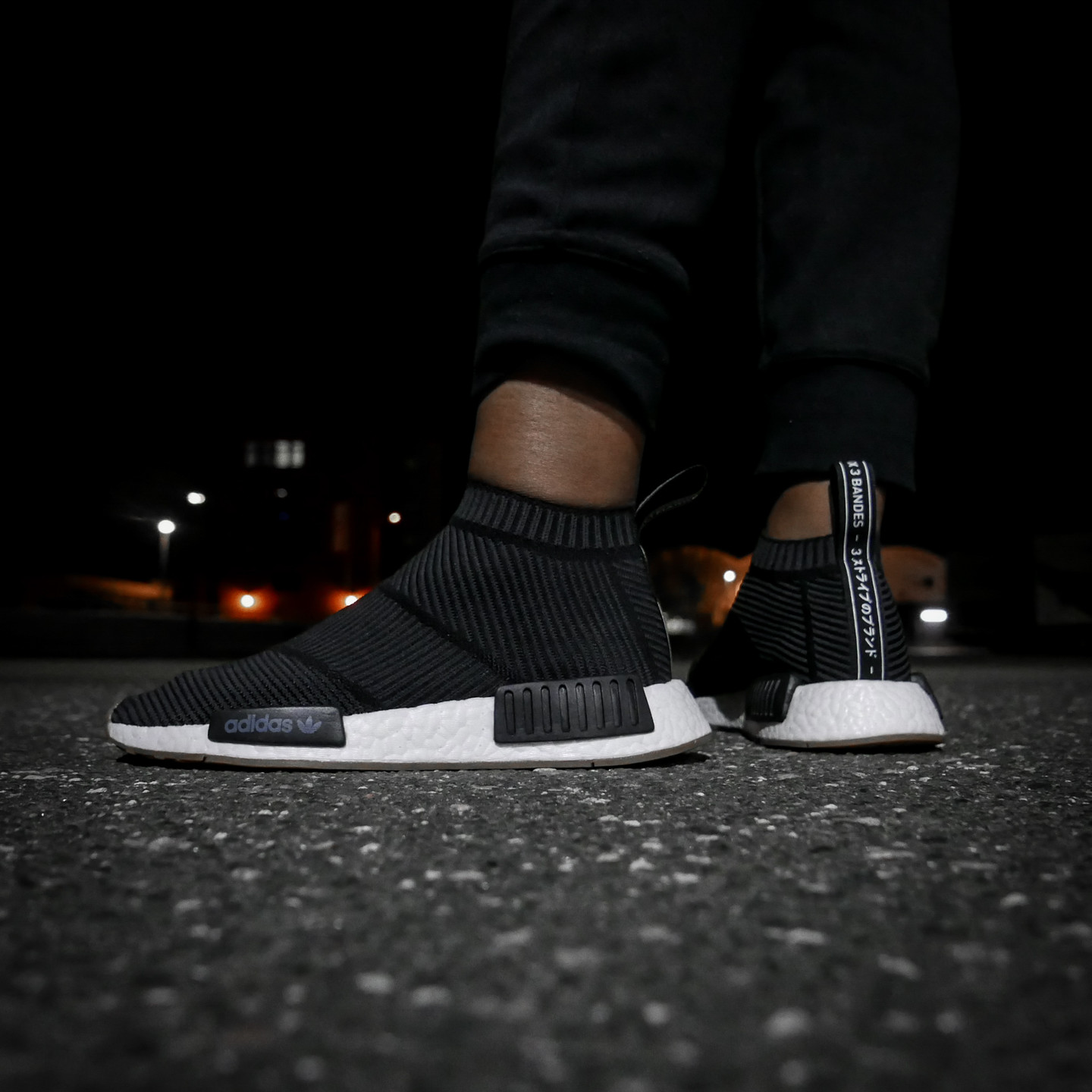 Adidas NMD CS1 City Sock Boost Primeknit Core Black / Gum BA7209-44