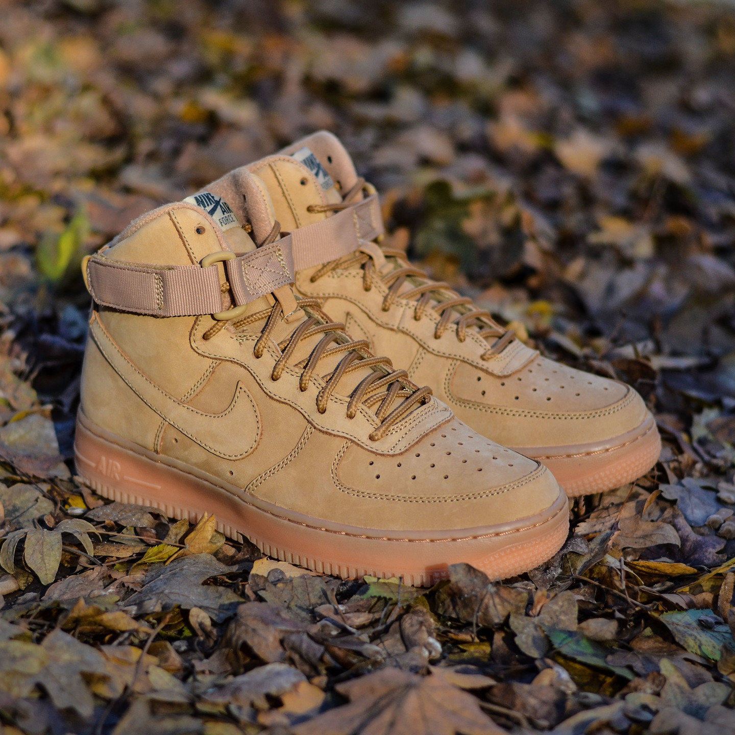Nike Air Force 1 High GS 'Flax' Flax / Outdoor Green 807617-200