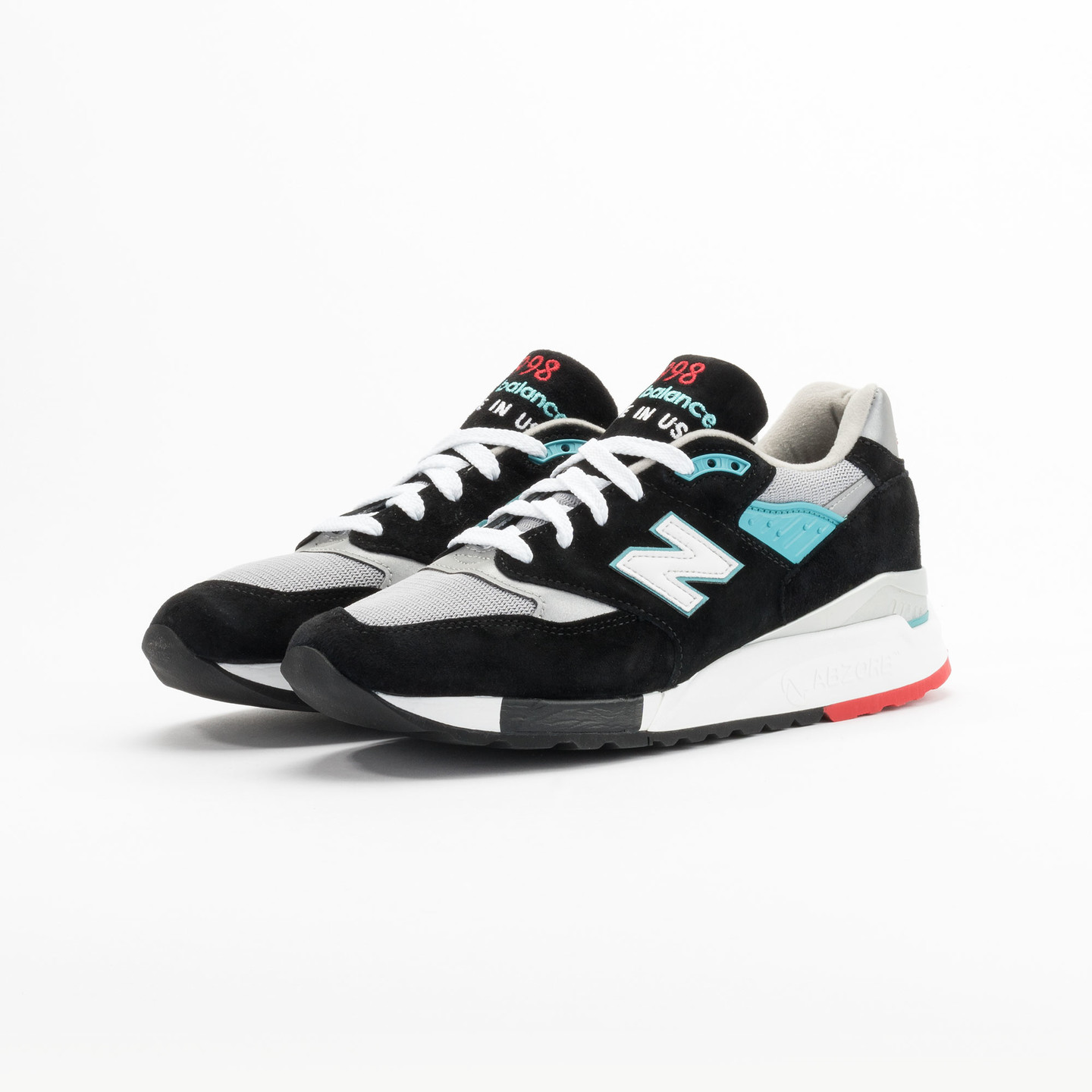 New Balance M998 CBB - Made in USA Black / Grey / Turquoise M998CBB-45