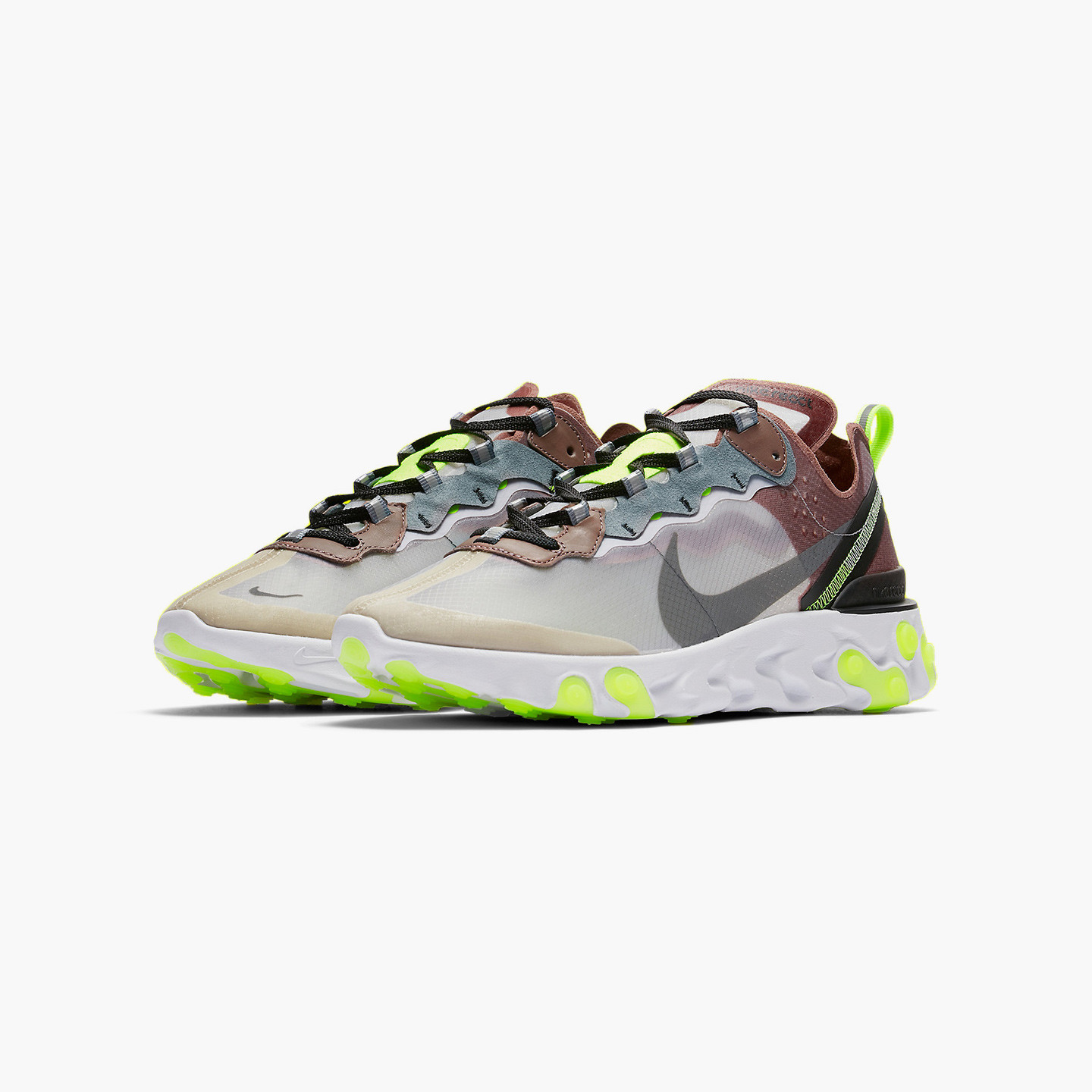 Nike React Element 87 Desert Sand / Cool Grey / Smokey Mauve AQ1090-002