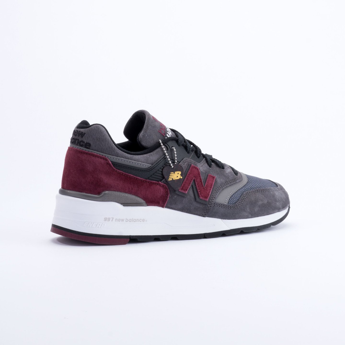 New Balance M997 Made in USA Charcoal/Burgundy M997CCF-45.5