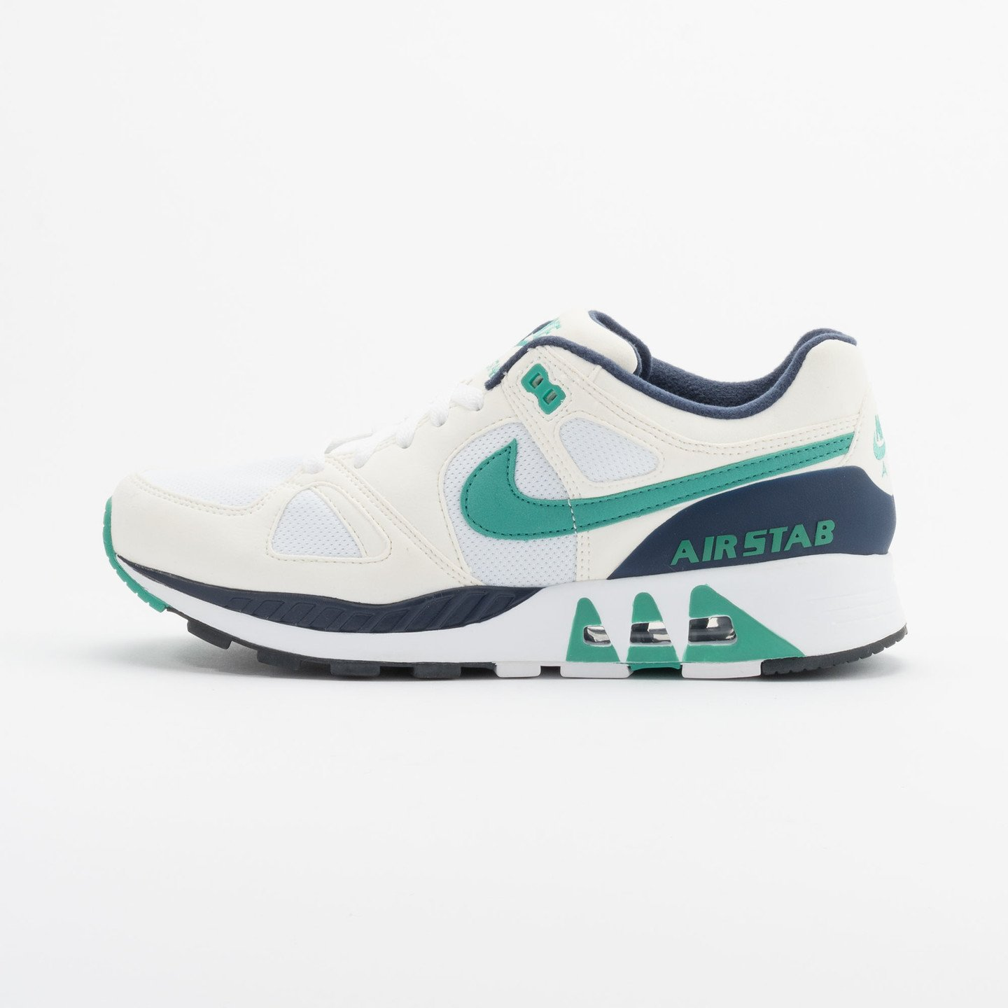 Nike Air Stab White/Emerald Green-Sl-Mid Nvy 312451-100-40