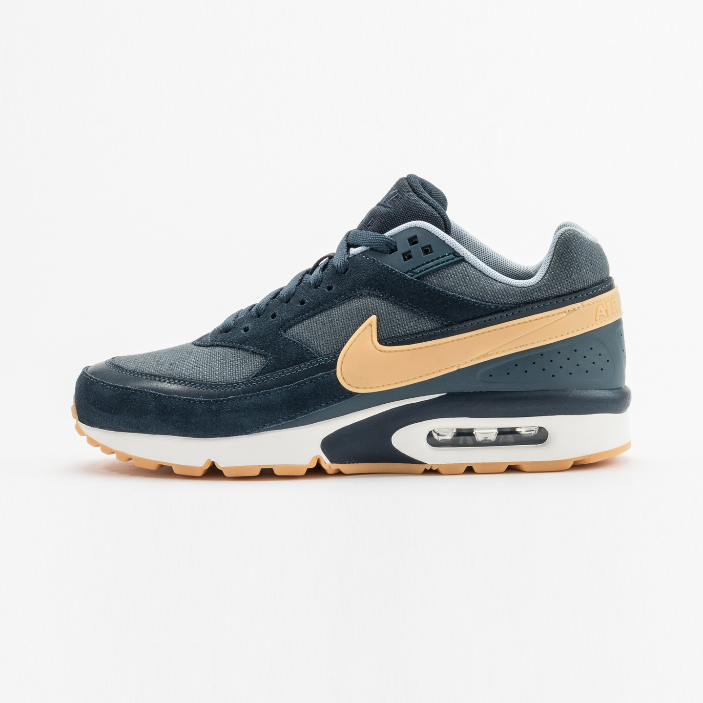 Nike Air Max BW Premium Armory Navy / Yellow / Gum 819523-401-46