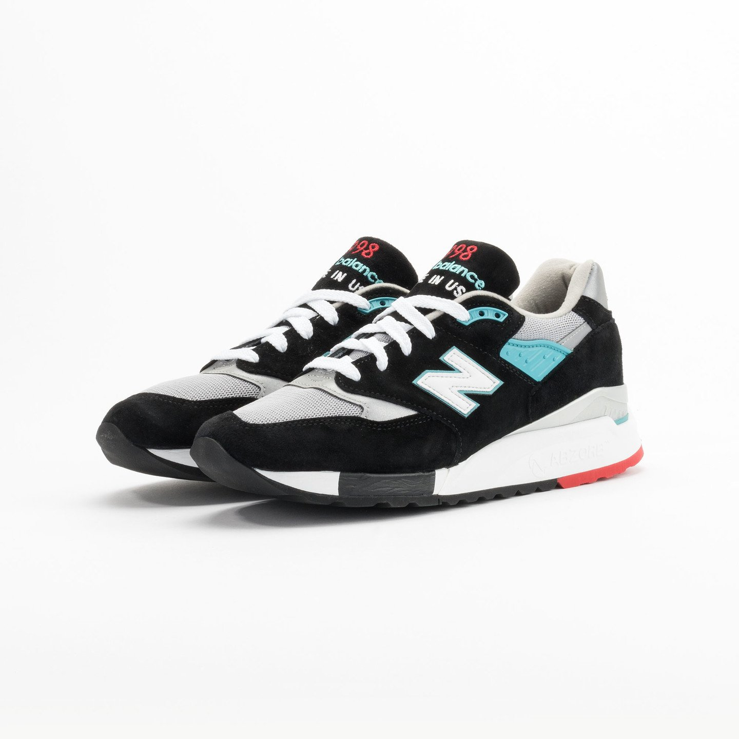 New Balance M998 CBB - Made in USA Black / Grey / Turquoise M998CBB-43