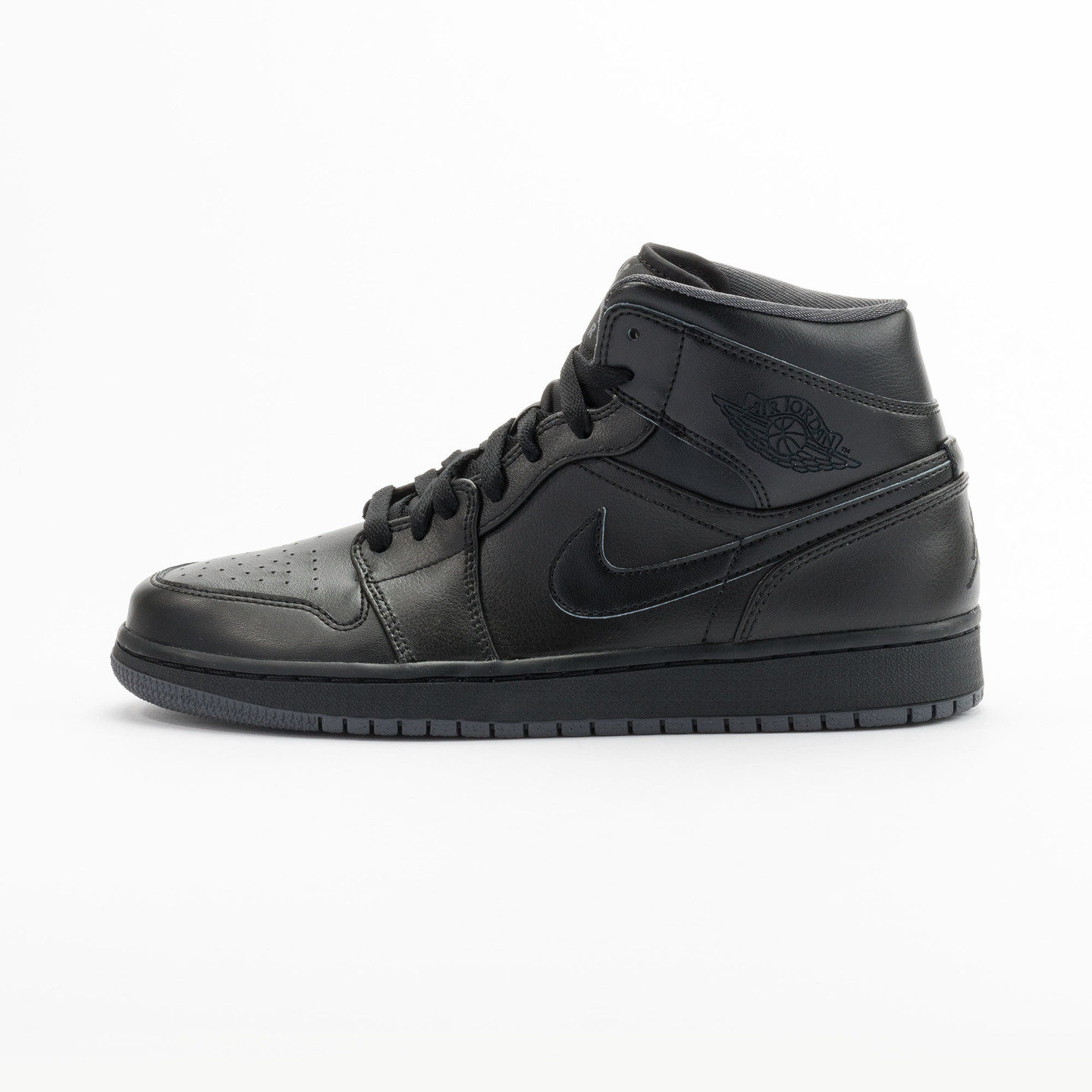 Nike Air Jordan 1 Mid Black / Dark Grey 554724-021-42.5