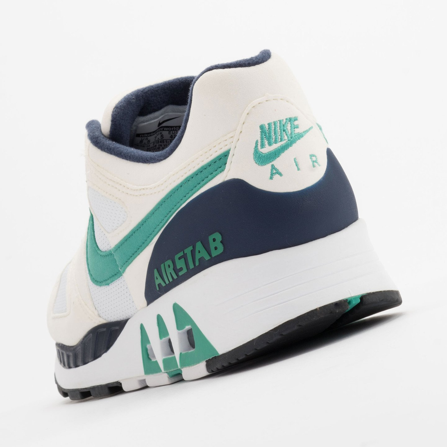 Nike Air Stab White/Emerald Green-Sl-Mid Nvy 312451-100-45.5
