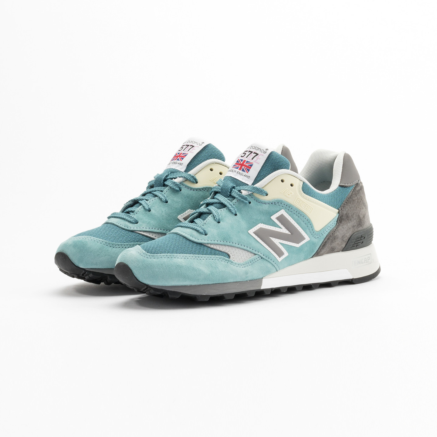New Balance M577 ETB - Made in England Sea Glass / Grey/ Yellow M577ETB-43