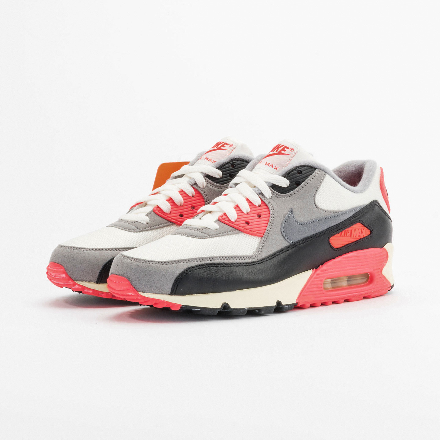 Nike Air Max 90 OG Vintage Infrared Sail /Cool Grey / Mdm Grey / Infrared 543361-161