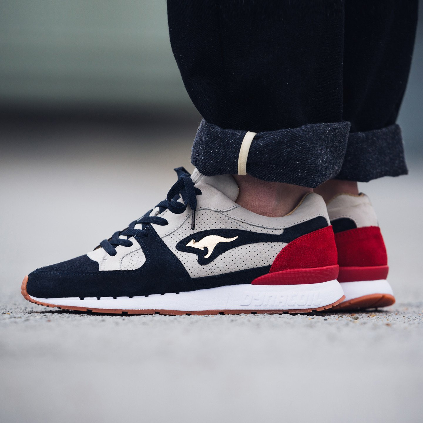 KangaROOS Coil R-1 'Playmaker' - Made in Germany Grey / Navy / Russian Red / Metallic Gold 47224-2083