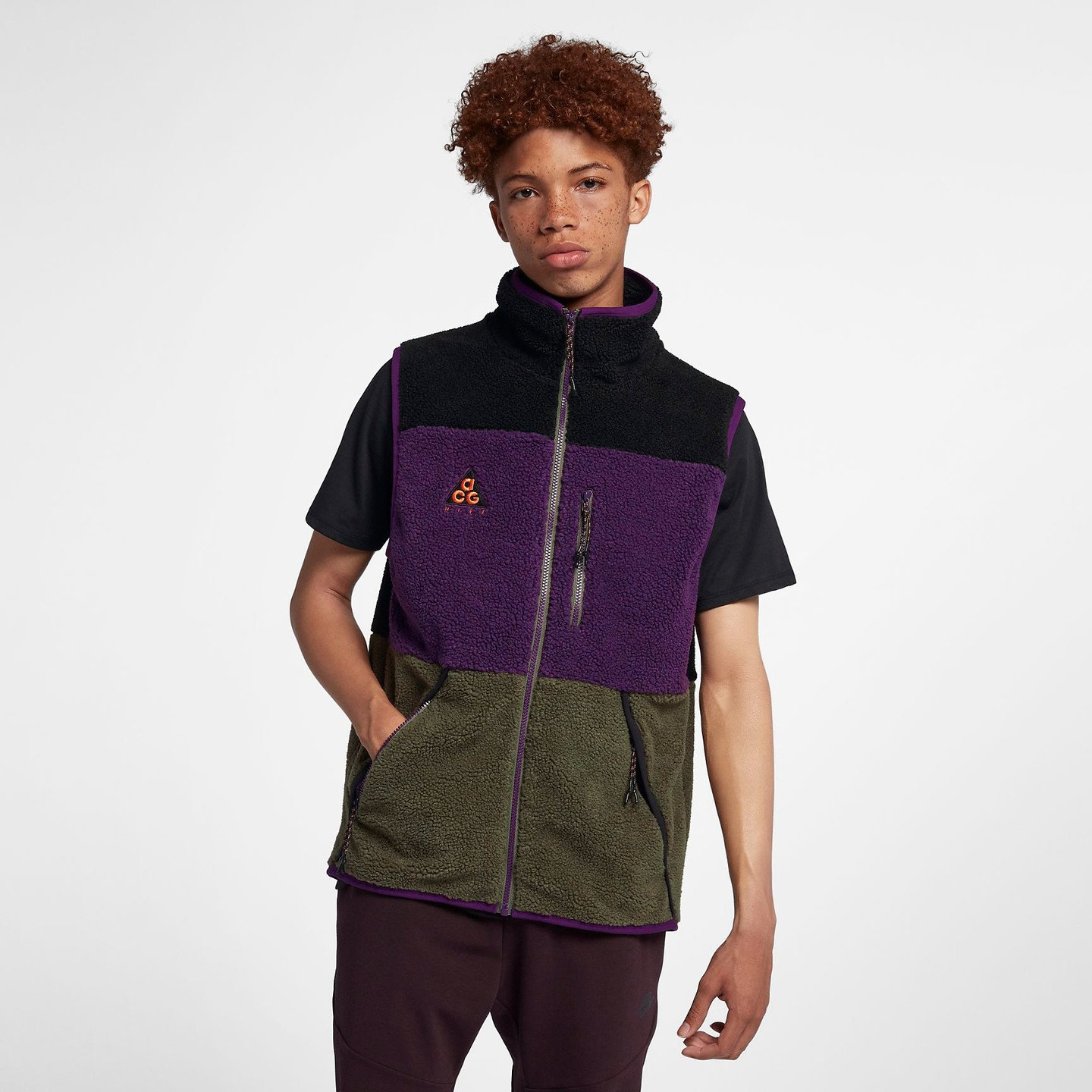 Nike ACG Vest Black / Sequoia / Night Purple AT5498-010