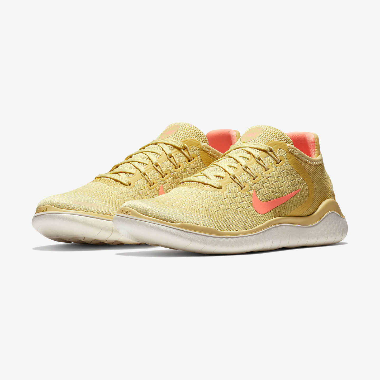 Nike Wmns Free Run 2018 Lemon Wash / Crimson Pulse AO1911-700