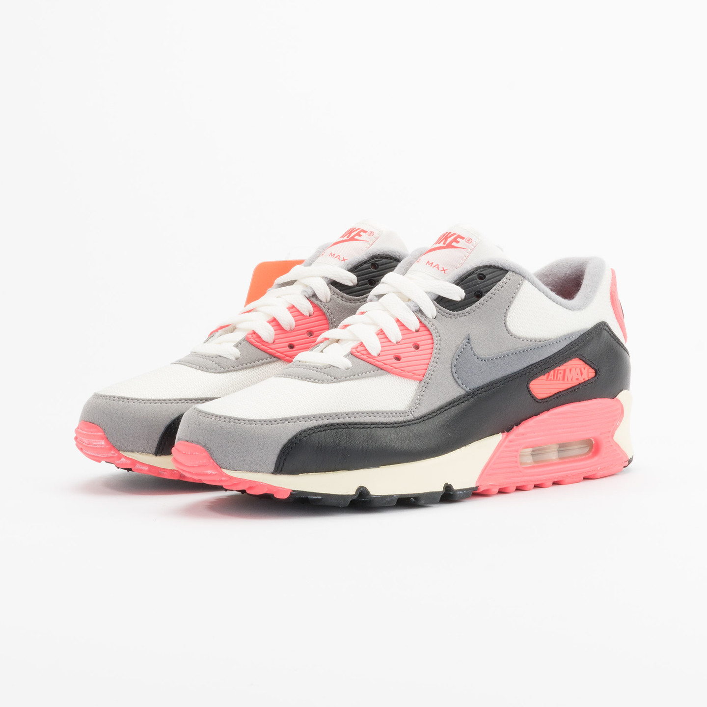 Nike Air Max 90 OG Vintage Infrared Sail/Cool Grey-Mdm Grey-Infrrd 543361-161-40