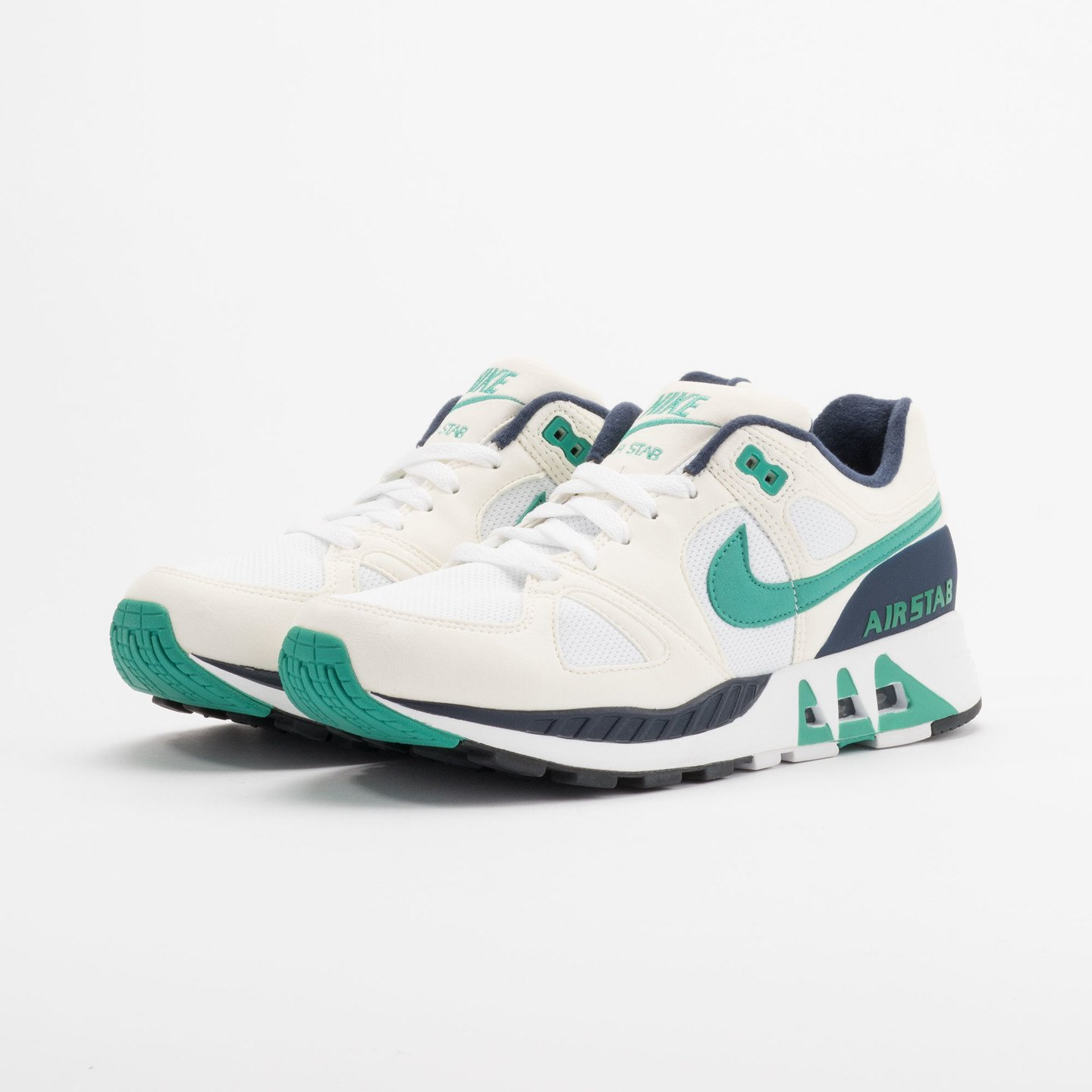 Nike Air Stab White/Emerald Green-Sl-Mid Nvy 312451-100-47