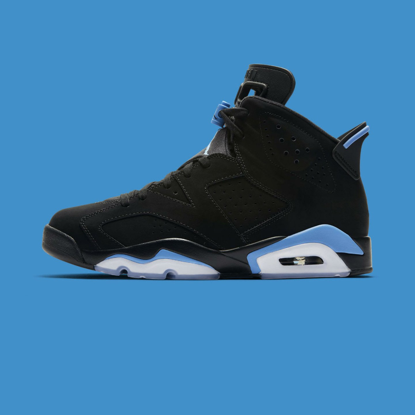 Jordan Air Jordan 6 Retro 'UNC' Black / University Blue 384664-006